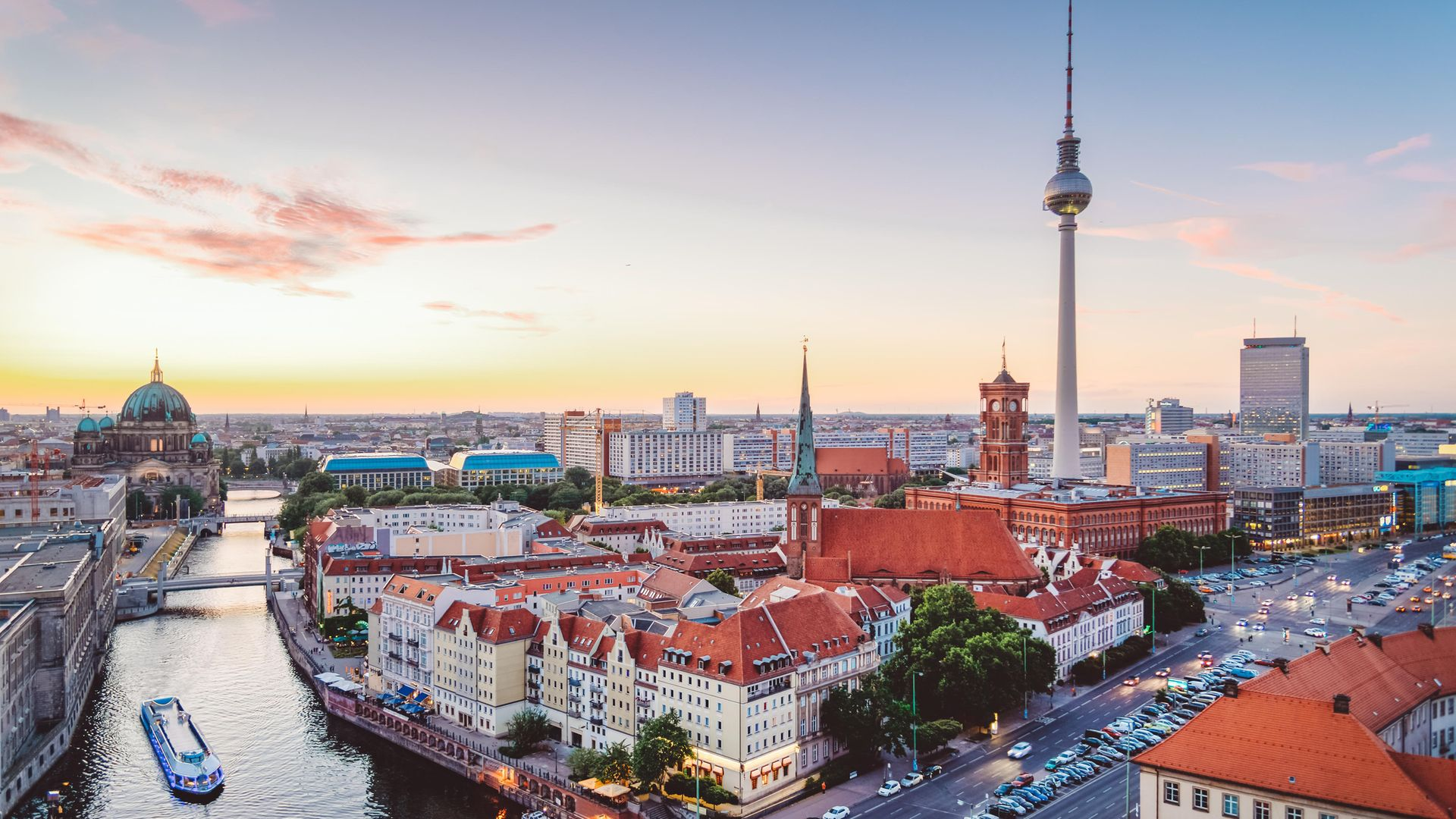 RENTERS' PARADISE: the Berlin skyline at dusk - Credit: Getty Images