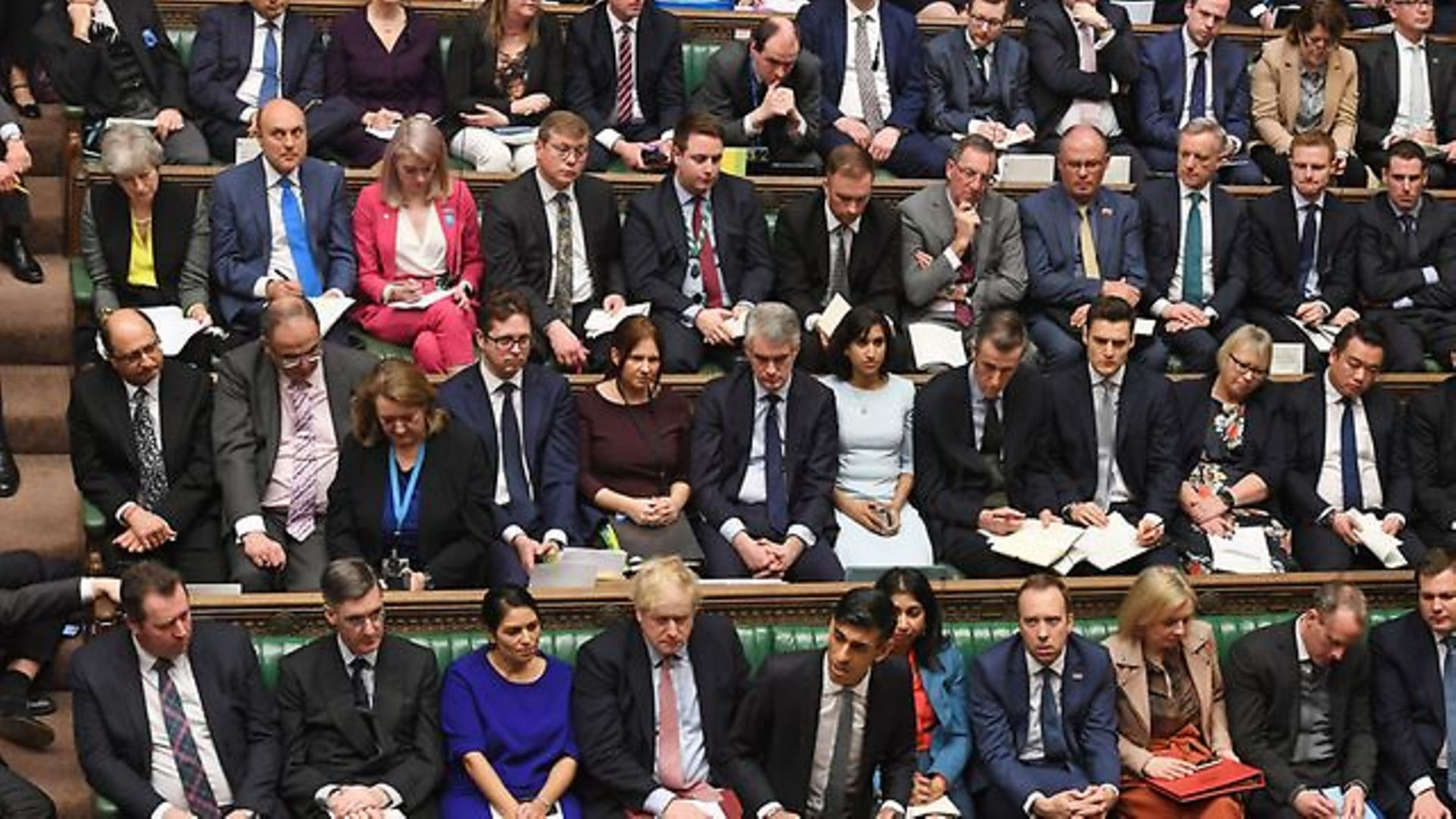 Tory MPs in the House of Commons on Budget Day - Credit: Jessica Taylor