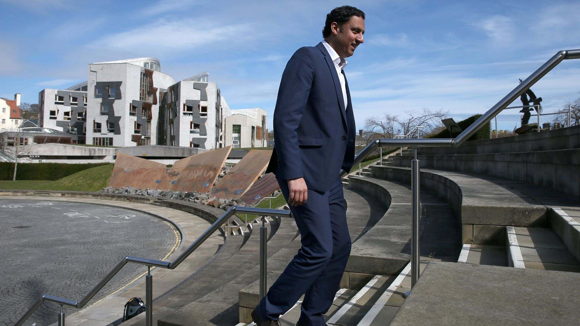 Scottish Labour leader Anas Sarwar has promised to scrap the TV licence fee for over-75s - Credit: PA