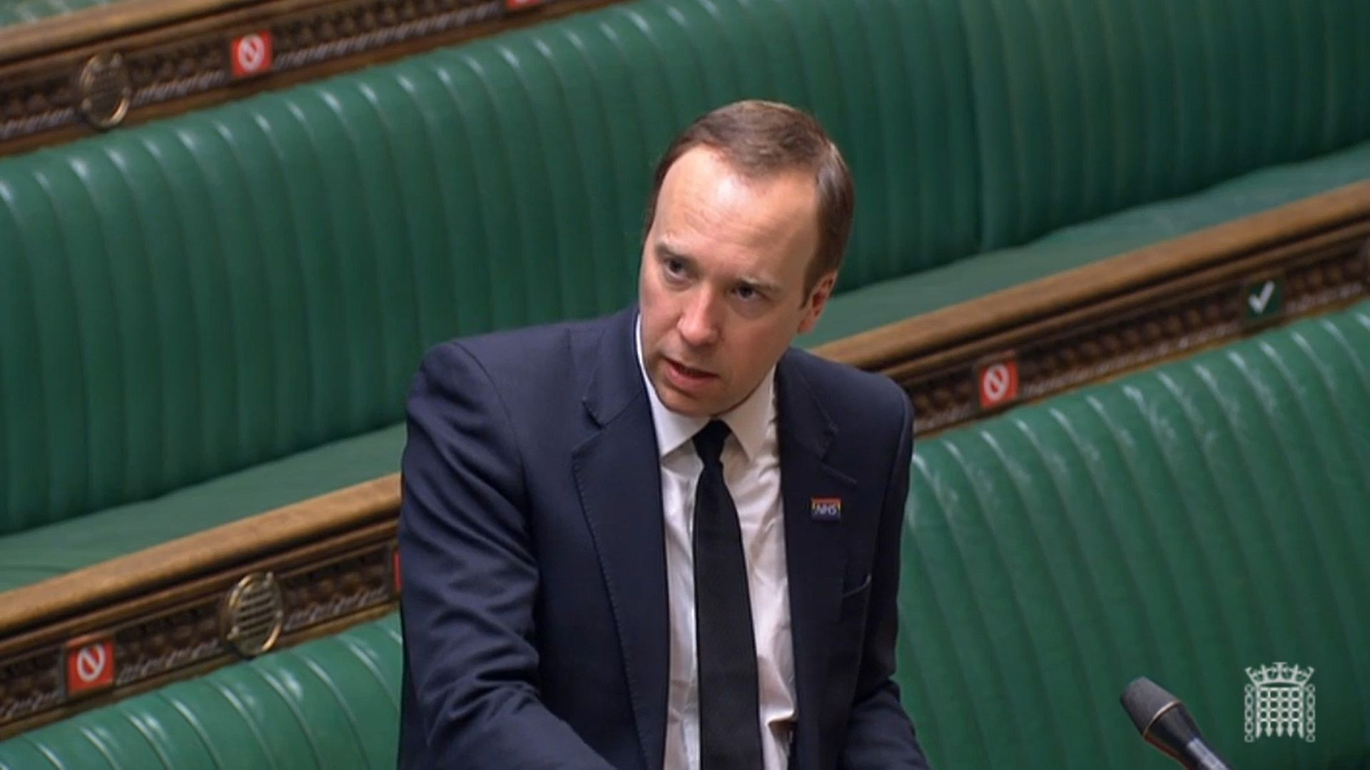 Health secretary Matt Hancock answering questions in the House of Commons. - Credit: PA