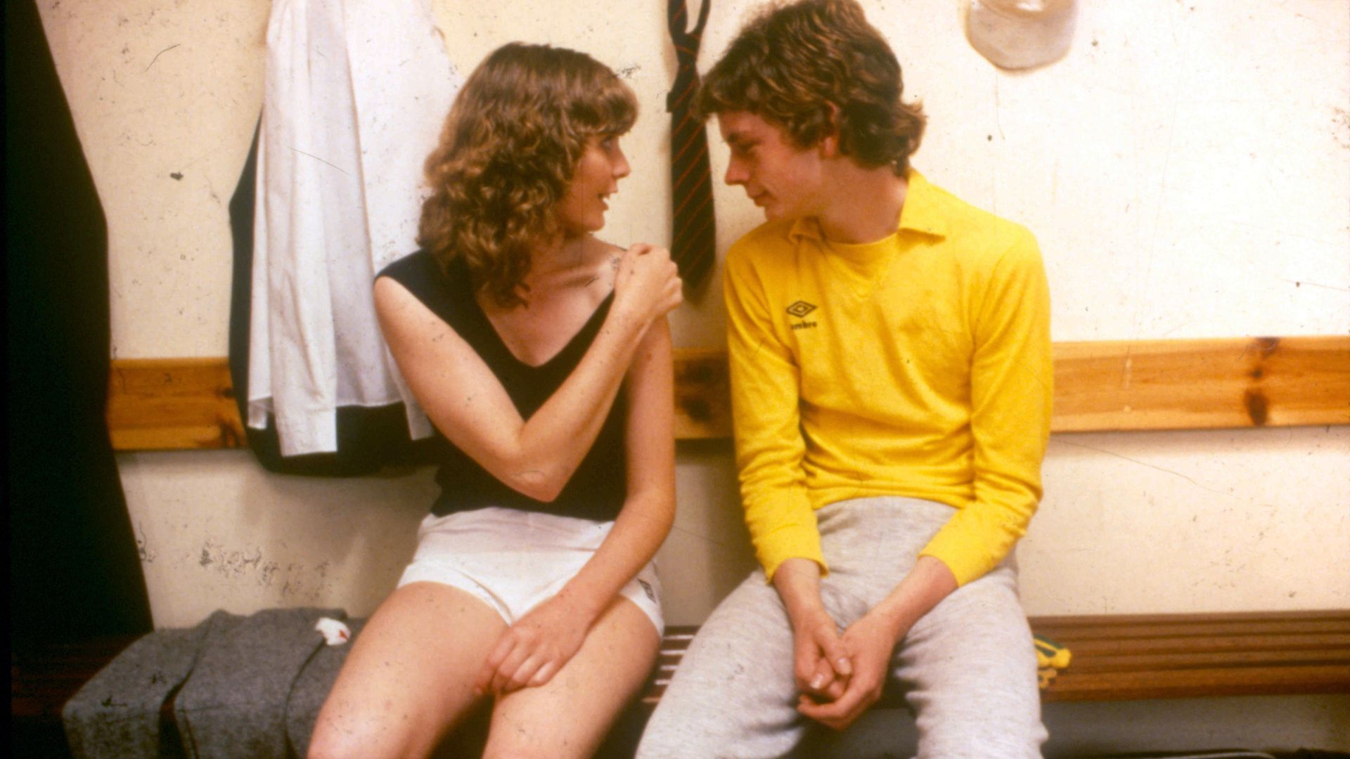 Dee Hepburn and John Gordon Sinclair in Gregory's Girl - Credit: Second Sight Films