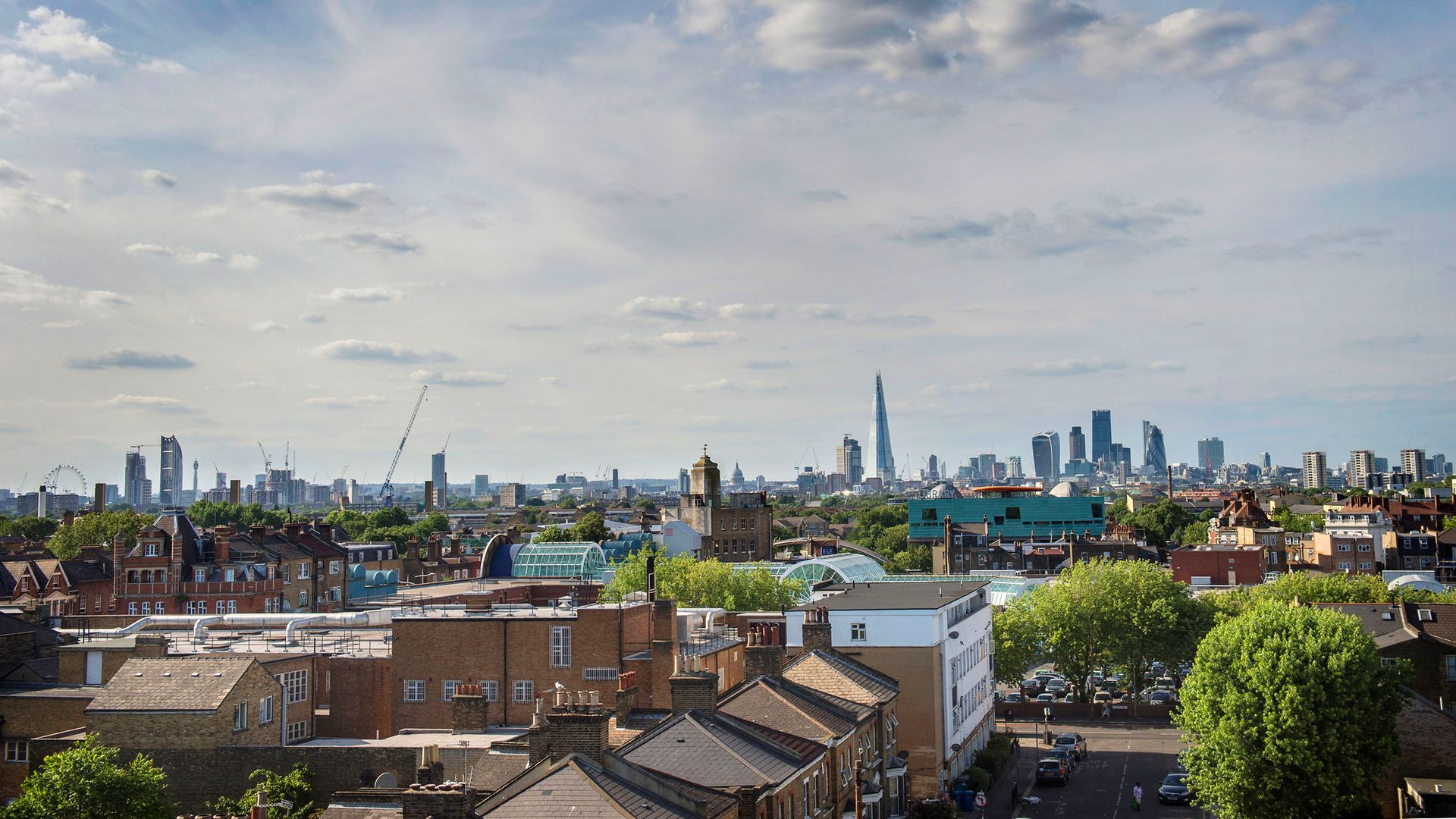 A view of the London skyline seen from Peckham - Credit: PA