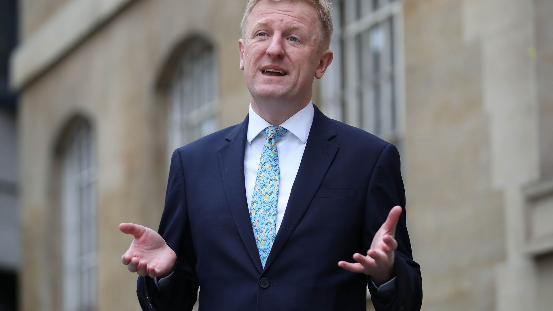 Culture secretary Oliver Dowden has defended the use of £2.6million of taxpayer funds on a new media room only for daily briefings to be scrapped before they even started - Credit: PA