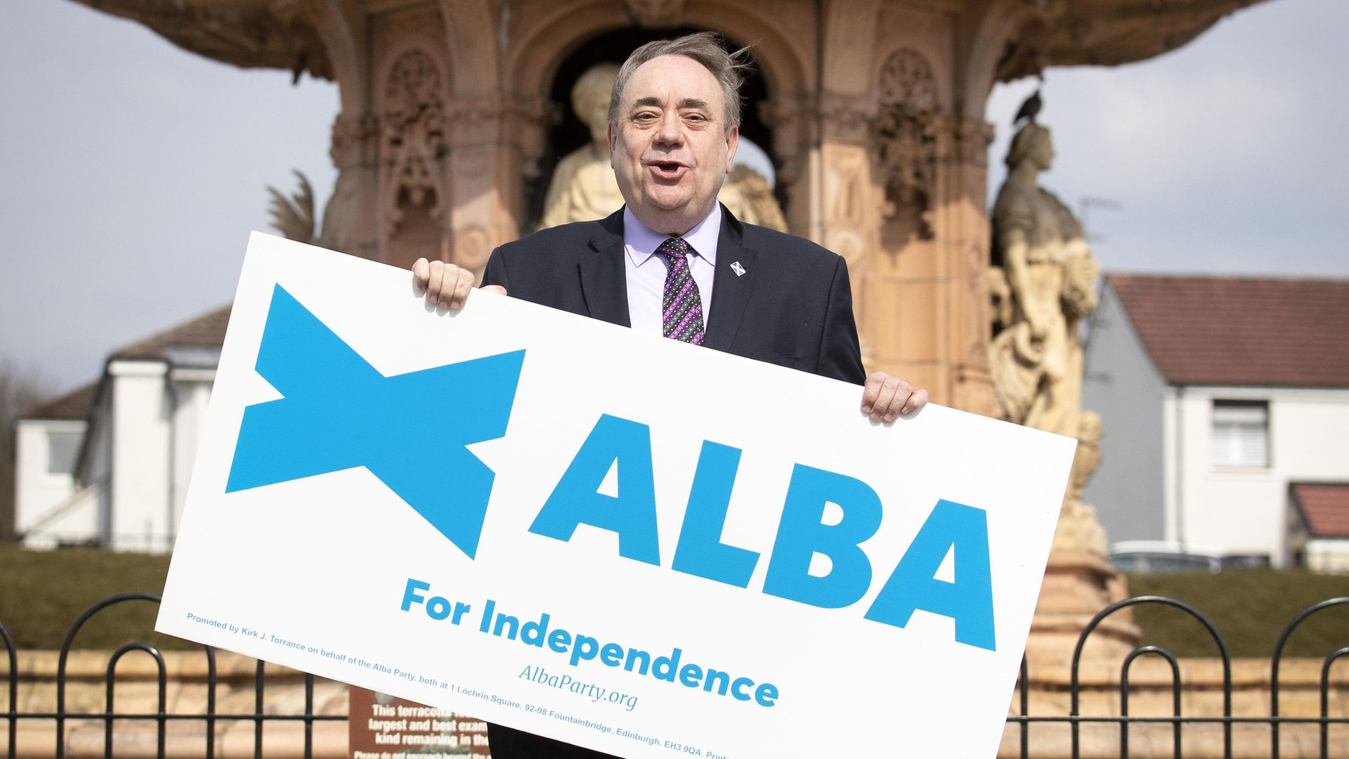 ALBA Party leader Alex Salmond at the Peoples Palace, Glasgow, to mark the start of the Glasgow campaign for the Scottish Parliamentary election. - Credit: PA