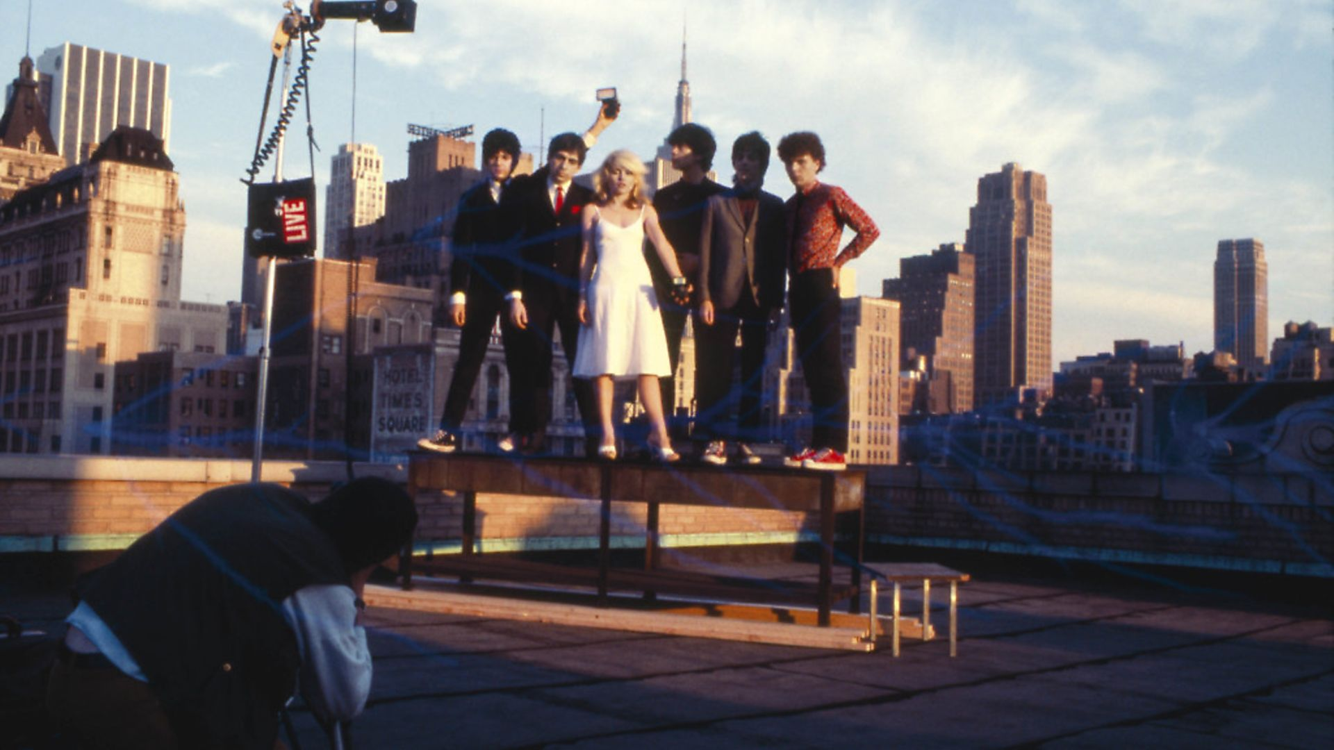Blondie in New York, 1978. Pictured from left to right: Clem Burke, Chris Stein, Debbie Harry, Jimmy Destri, Frank Infante and Nigel Harrison. Picture: Getty Images - Credit: Redferns