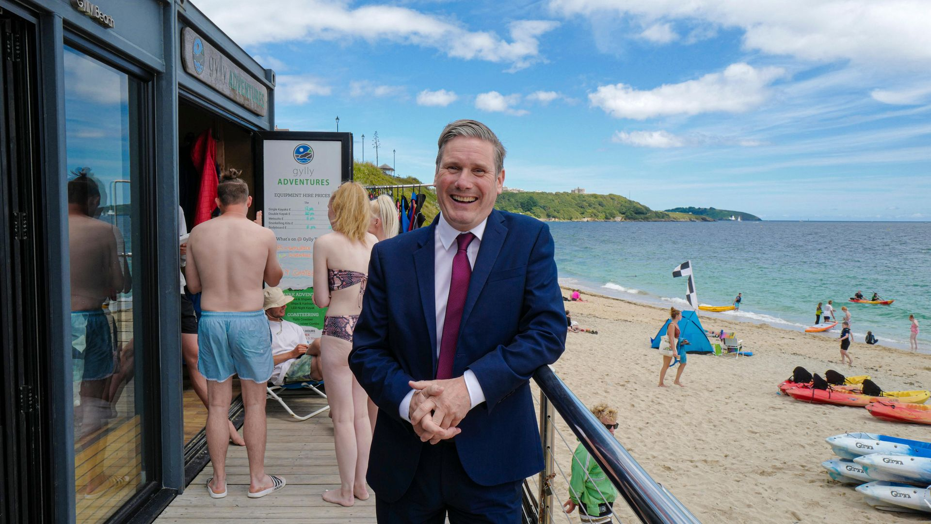 Labour leader Sir Keir Starmer in Falmouth - Credit: Getty Images