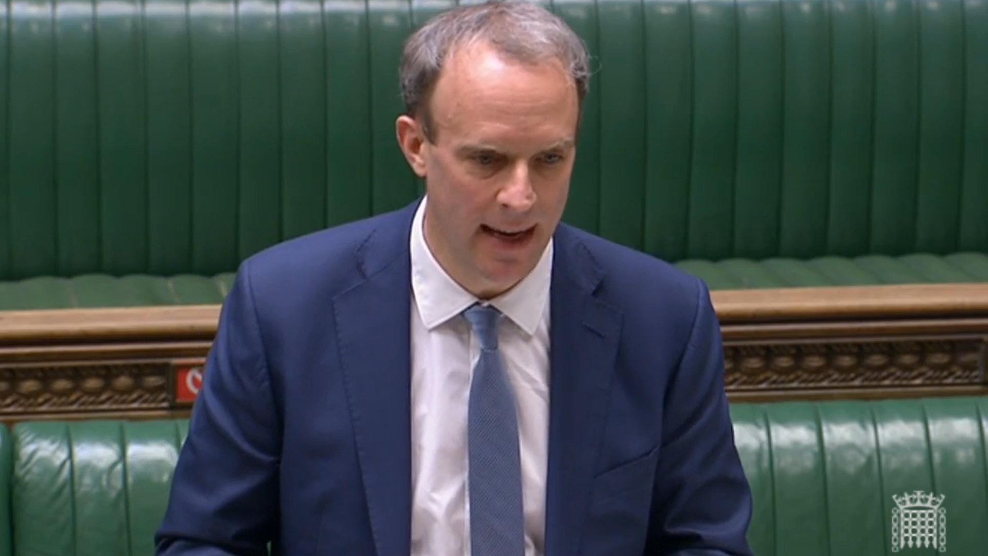 Foreign secretary Dominic Raab (pictured above) clashed with MPs on the International Development Committee on Thursday - Credit: PA