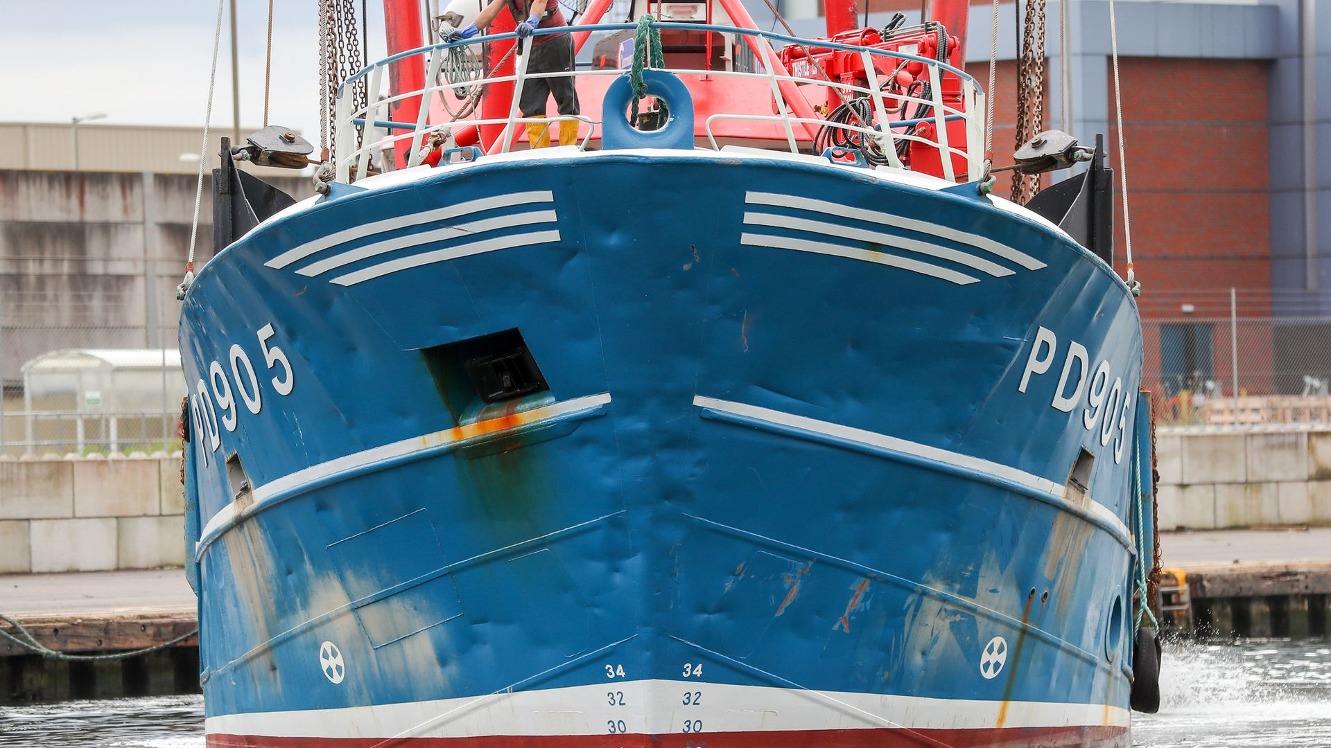 A view of the bow of Honeybourne III, a Scottish scallop dredger - Credit: PA