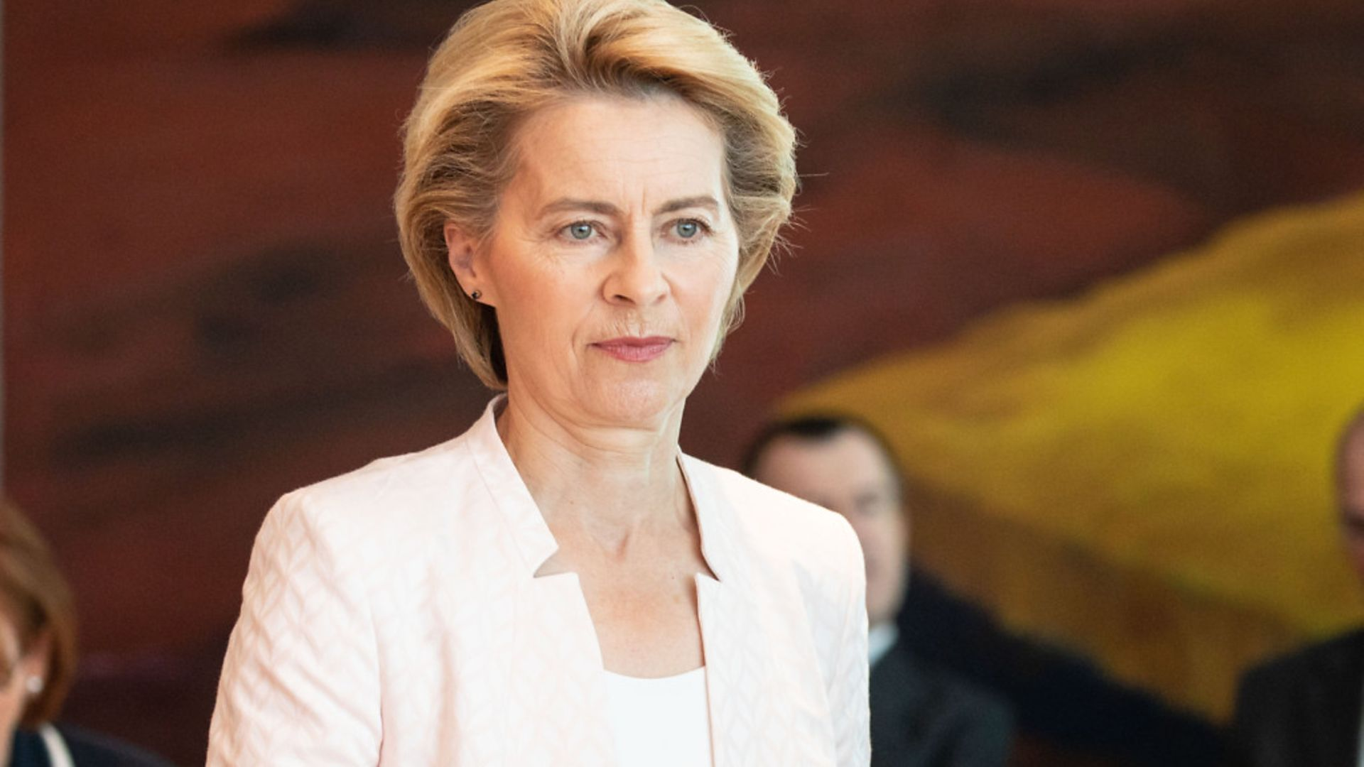 Commission president Ursula von der Leyen said nearly 70% of all EU adults should be inoculated by July this year - Credit: Getty Images