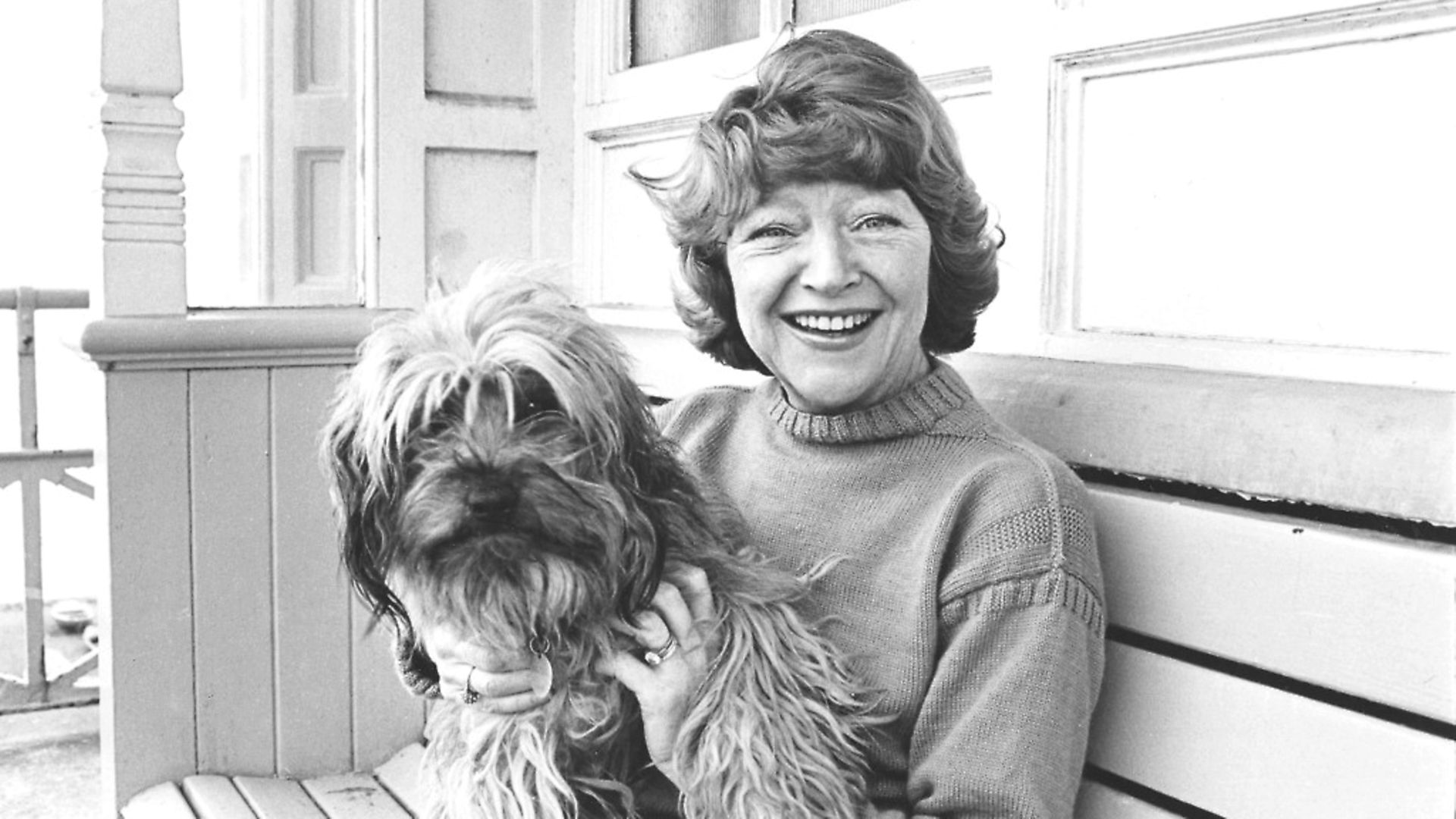 Portrait of actress Dora Bryan with her pet dog, March 1977. (Photo by Jeremy Grayson/Radio Times/Getty Images) - Credit: Getty Images