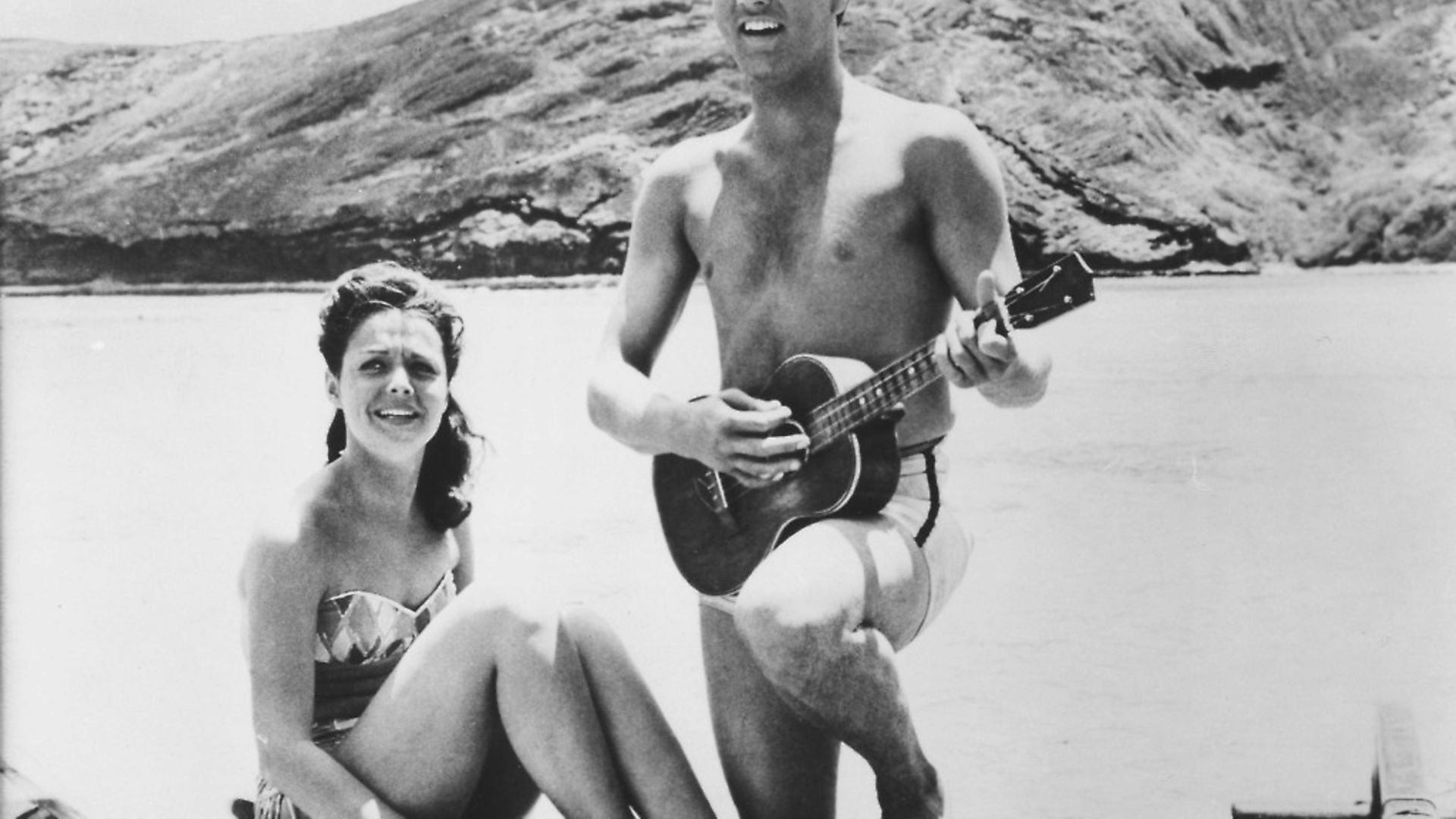 Elvis Presley and Joan Blackman in Blue Hawaii (Photo from Getty Images) - Credit: ullstein bild via Getty Images