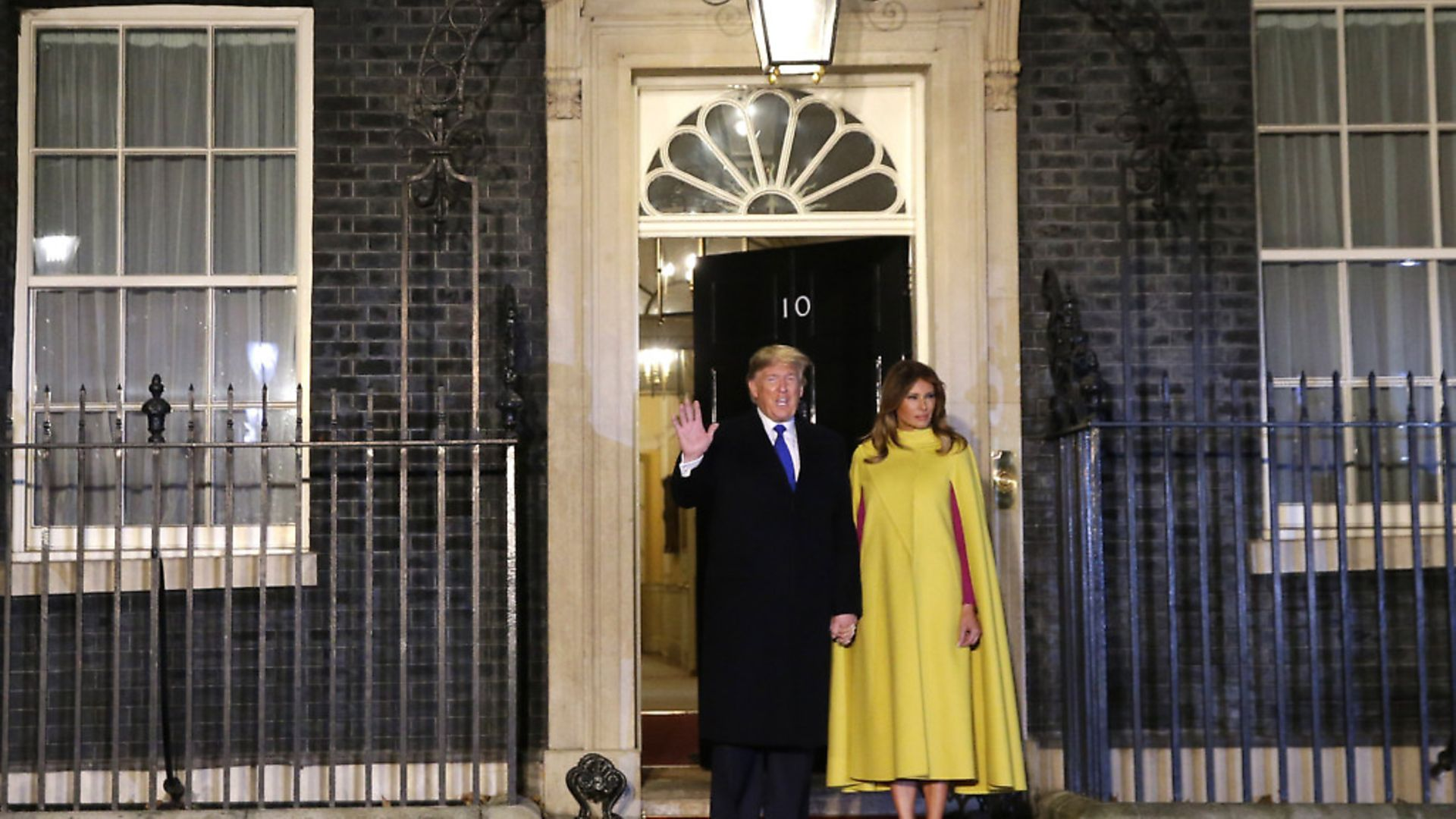 U.S. President Donald Trump and first lady Melania arriving at 10 Downing Street. Photograph: Alastair Grant/PA. - Credit: PA