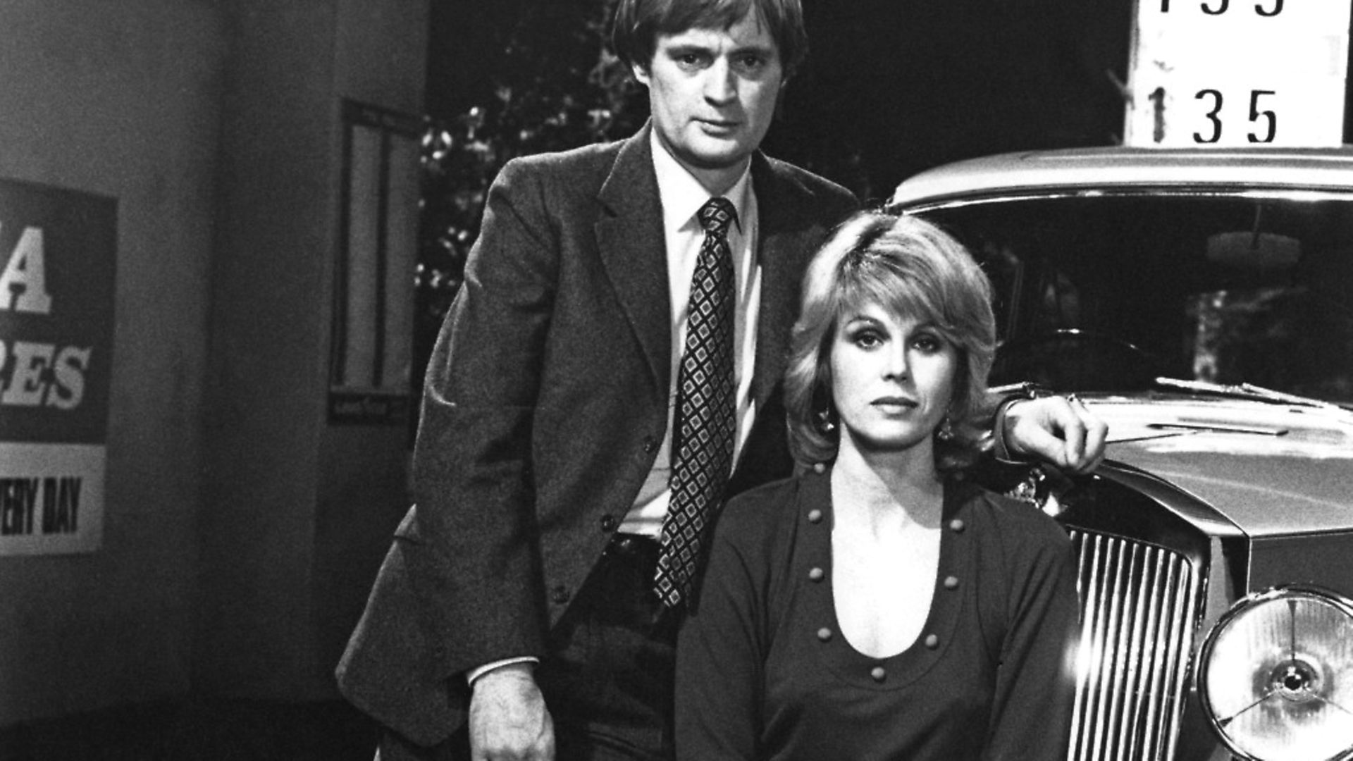 David McCallum and Joanna Lumley in science-fiction series 'Sapphire & Steel' (1980). Picture: Getty Images - Credit: Getty Images