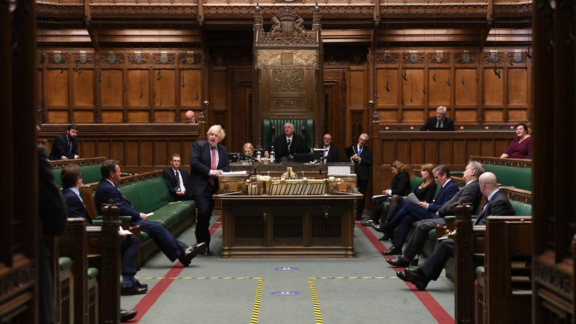 Boris Johnson at PMQs in the House of Commons. Photograph: Jessica Taylor/UK Parliament. - Credit: Archant