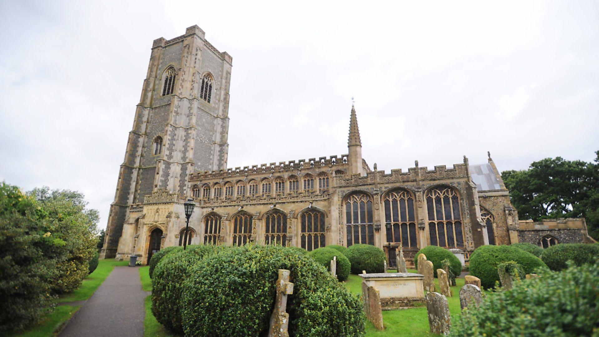 Lavenham church in Suffolk. East Anglia returns in Peter Trudgill's latest column. Photograph: Gregg Brown - Credit: Gregg Brown