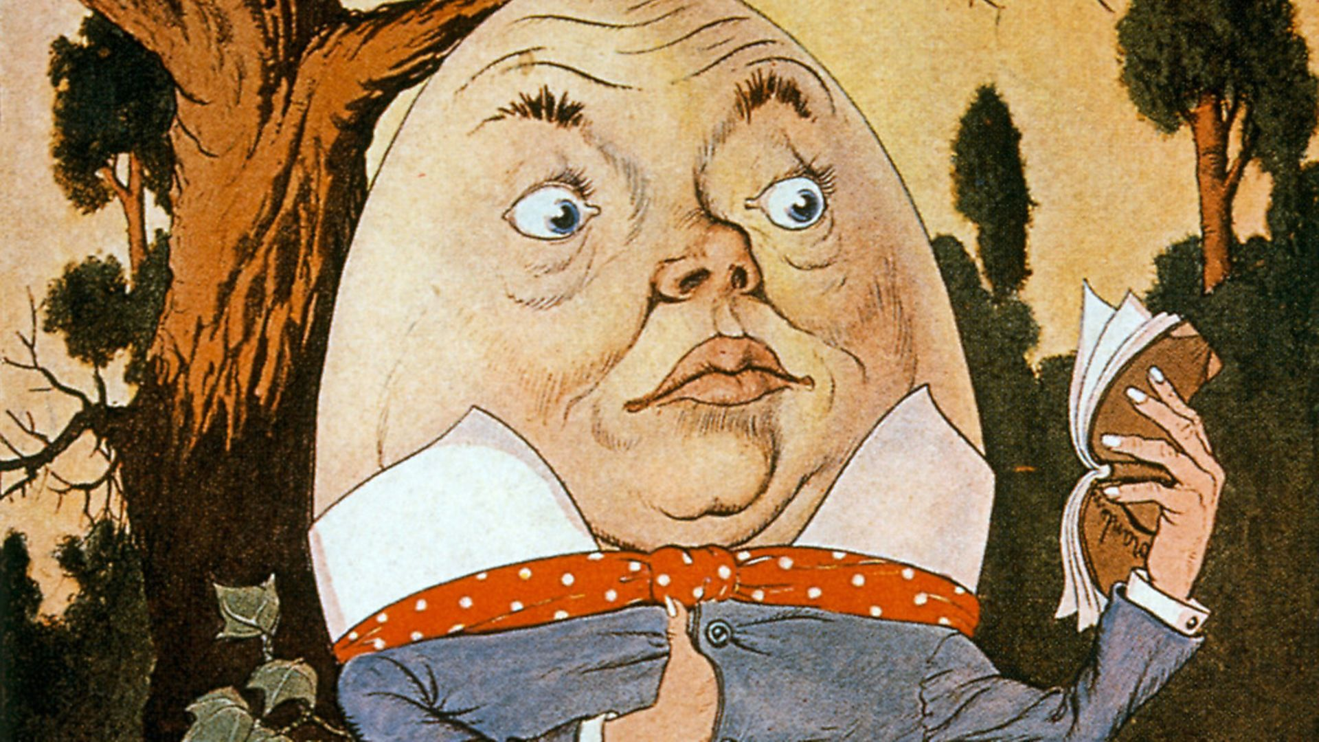 Humpty Dumpty Sitting on a Wall, illustration by Milo Winter, 1916. Photo by: Universal History Archive/Universal Images Group via Getty Images - Credit: Universal Images Group via Getty