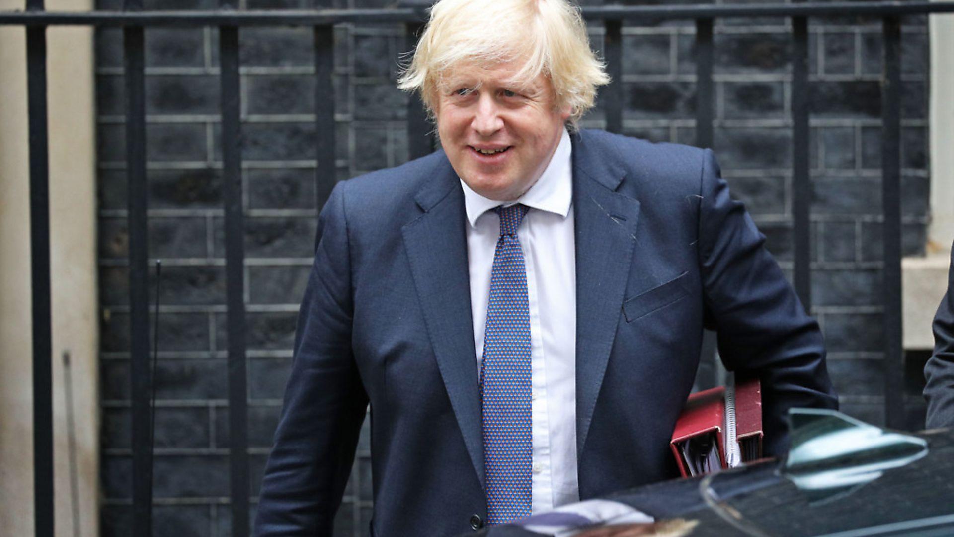 Prime minister Boris Johnson departs 10 Downing Street; Jonathan Brady/PA Wire - Credit: PA
