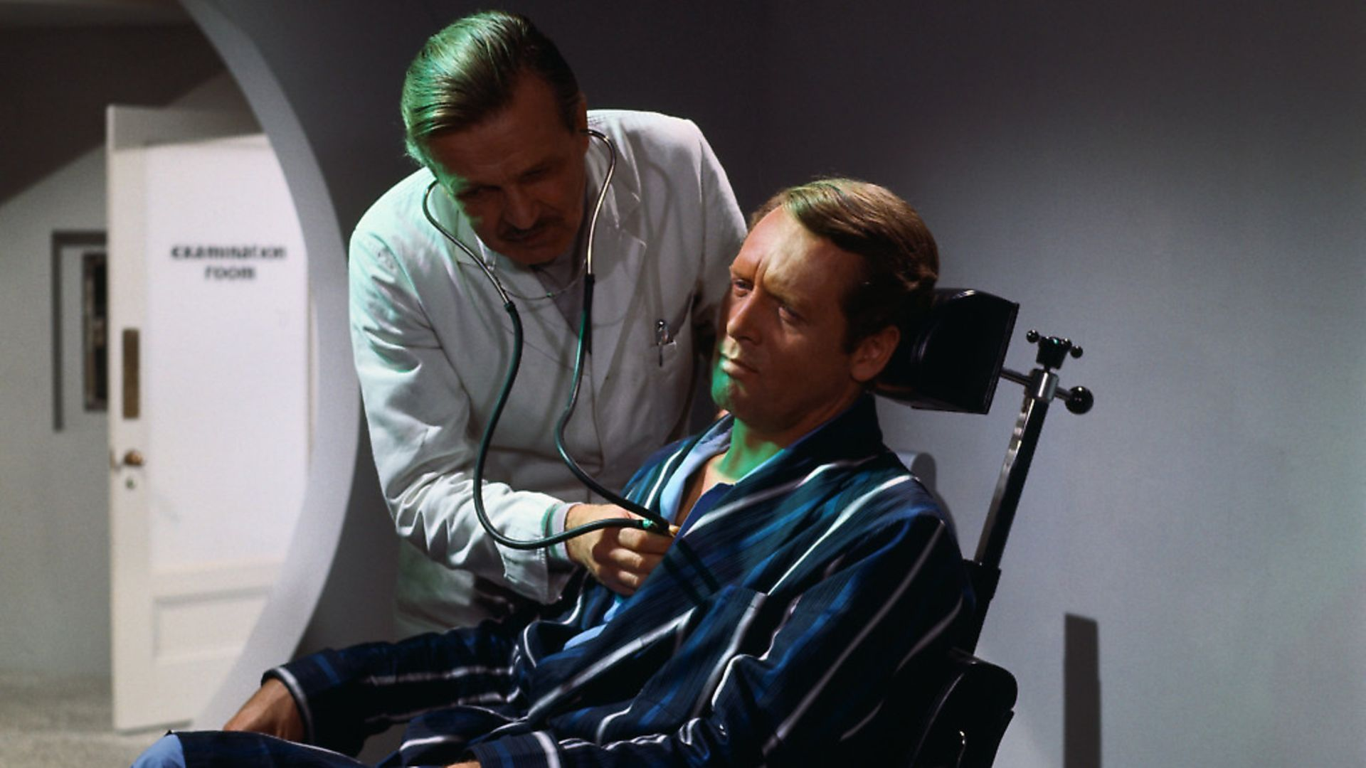 Number 6, played by Patrick McGoohan, is examined by a doctor in The Prisoner (1967). Picture: Getty - Credit: Bettmann Archive