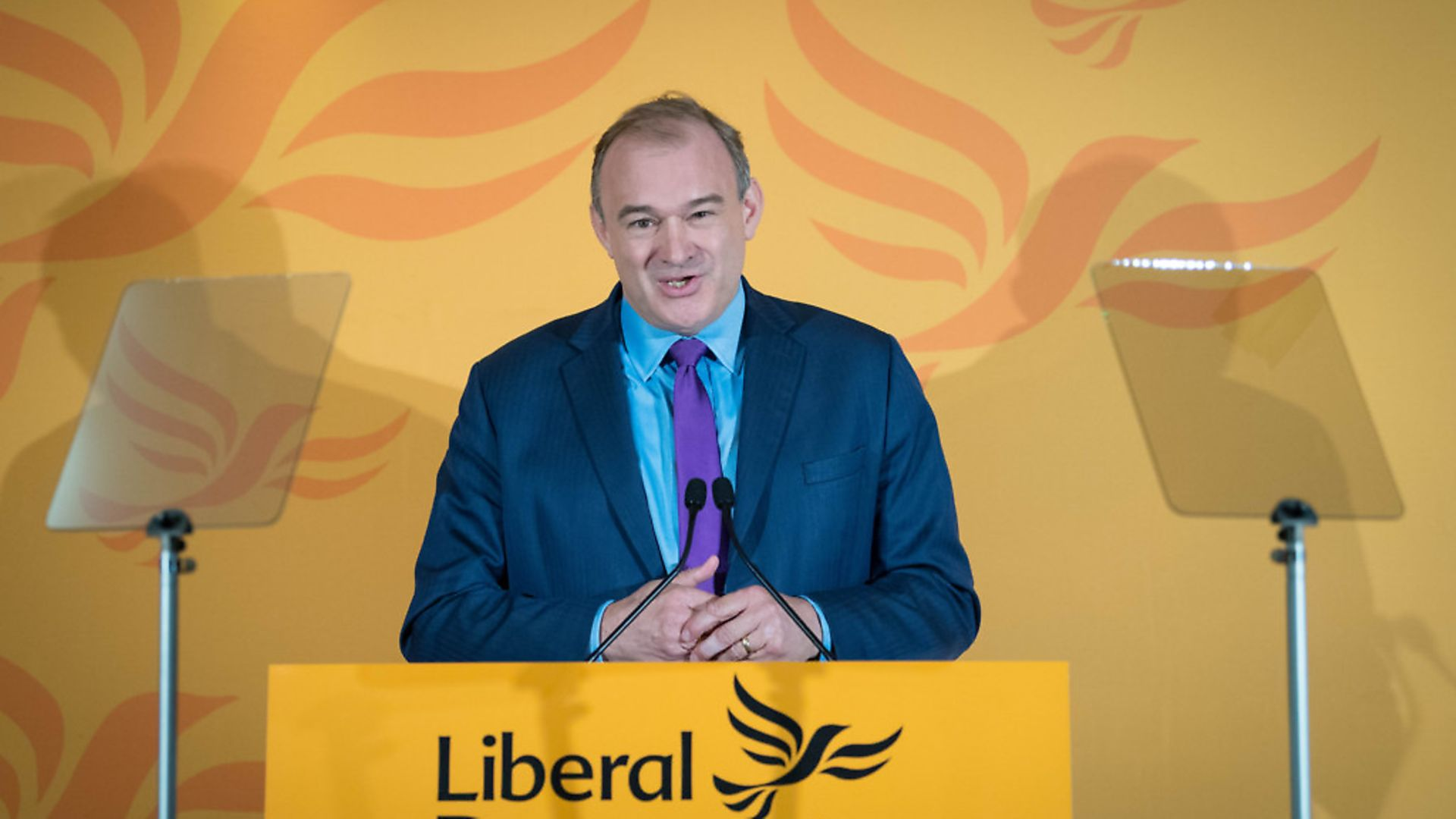 Sir Ed Davey speaks after he was elected as the leader of the Liberal Democrats. Photograph: Stefan Rousseau/PA. - Credit: PA