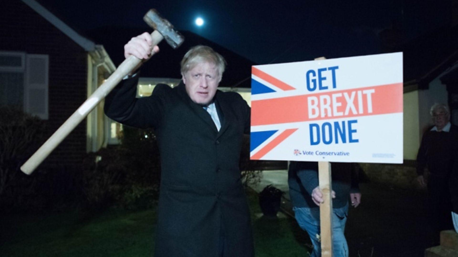 Boris Johnson during the general election campaign. Photograph: Stefan Rousseau/PA Wire.