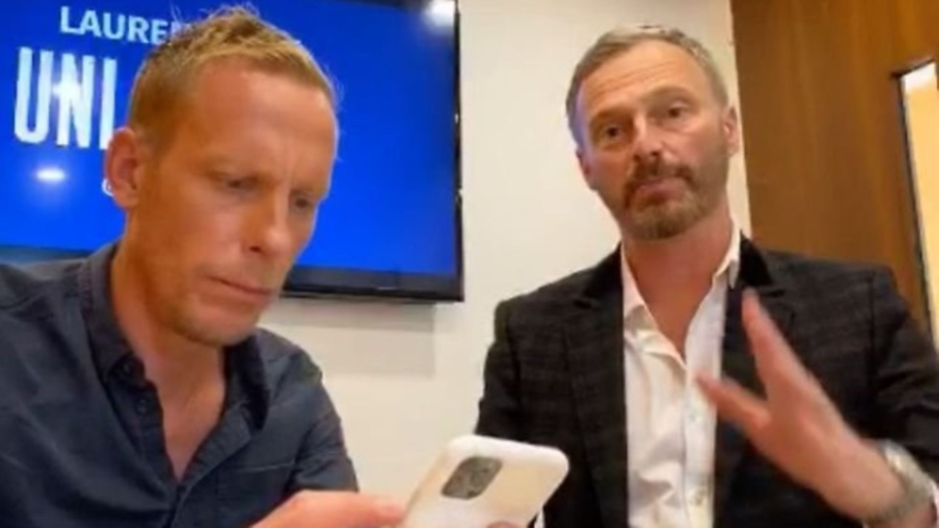 Actor Laurence Fox (L) and former Brexit Party MEP Martin Daubney (R). Photograph: Twitter. - Credit: Twitter