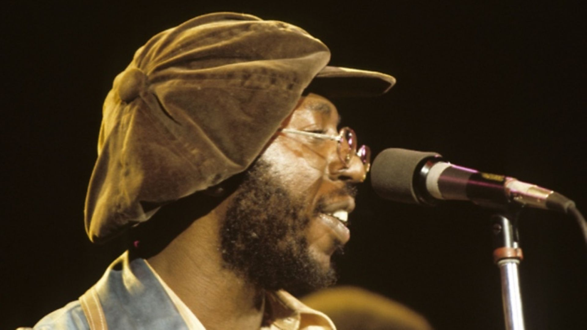 Curtis Mayfield in concert: November 1, 1972. (Photo by Walt Disney Television via Getty Images Photo Archives/Walt Disney Television via Getty Images) - Credit: Walt Disney Television via Getty Images