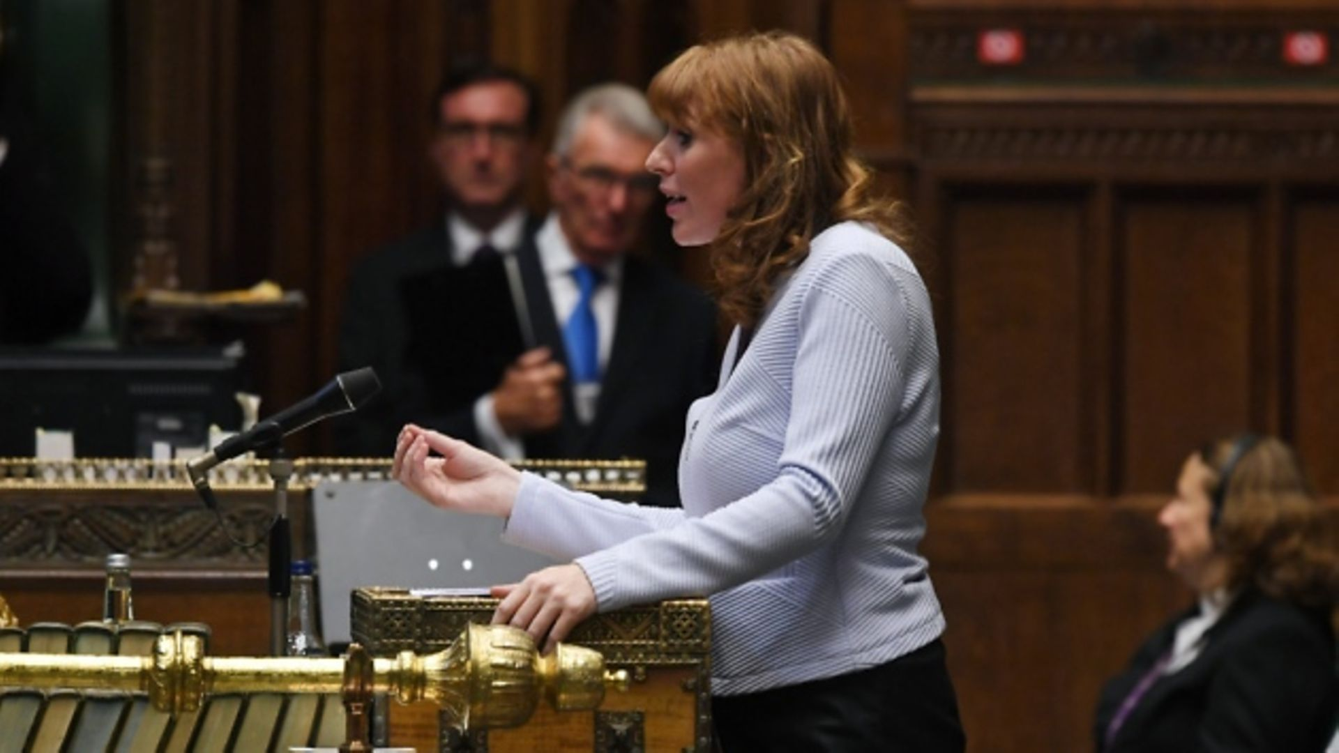 Deputy Labour leader Angela Rayner speaking at Prime Minister's Questions in the House of Commons. Photograph: Jessica Taylor/UK Parliament. - Credit: Jessica Taylor/UK Parliament