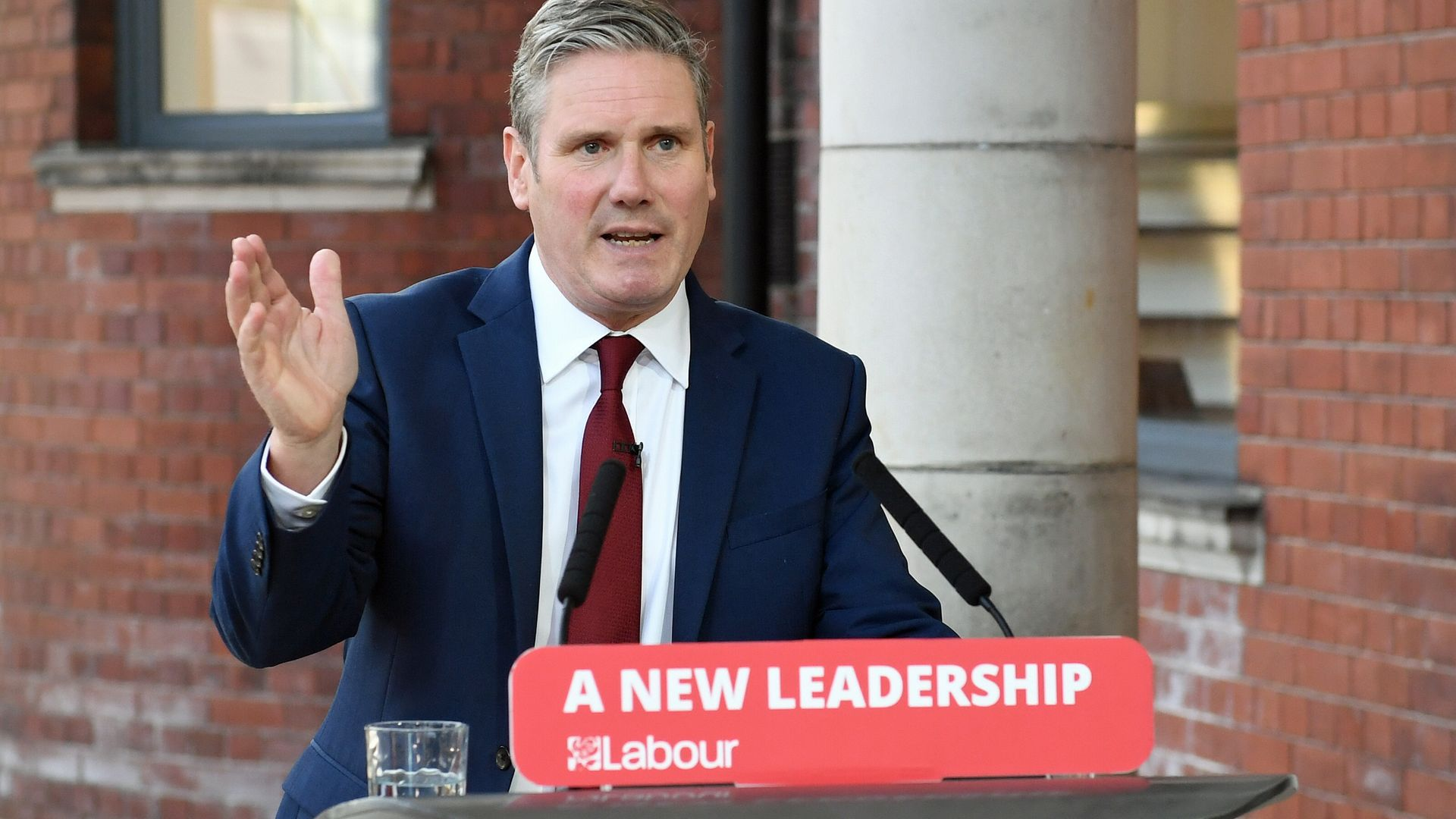 Labour leader Sir Keir Starmer delivers his keynote speech during the party's online conference from the Danum Gallery, Library and Museum in Doncaster. - Credit: PA