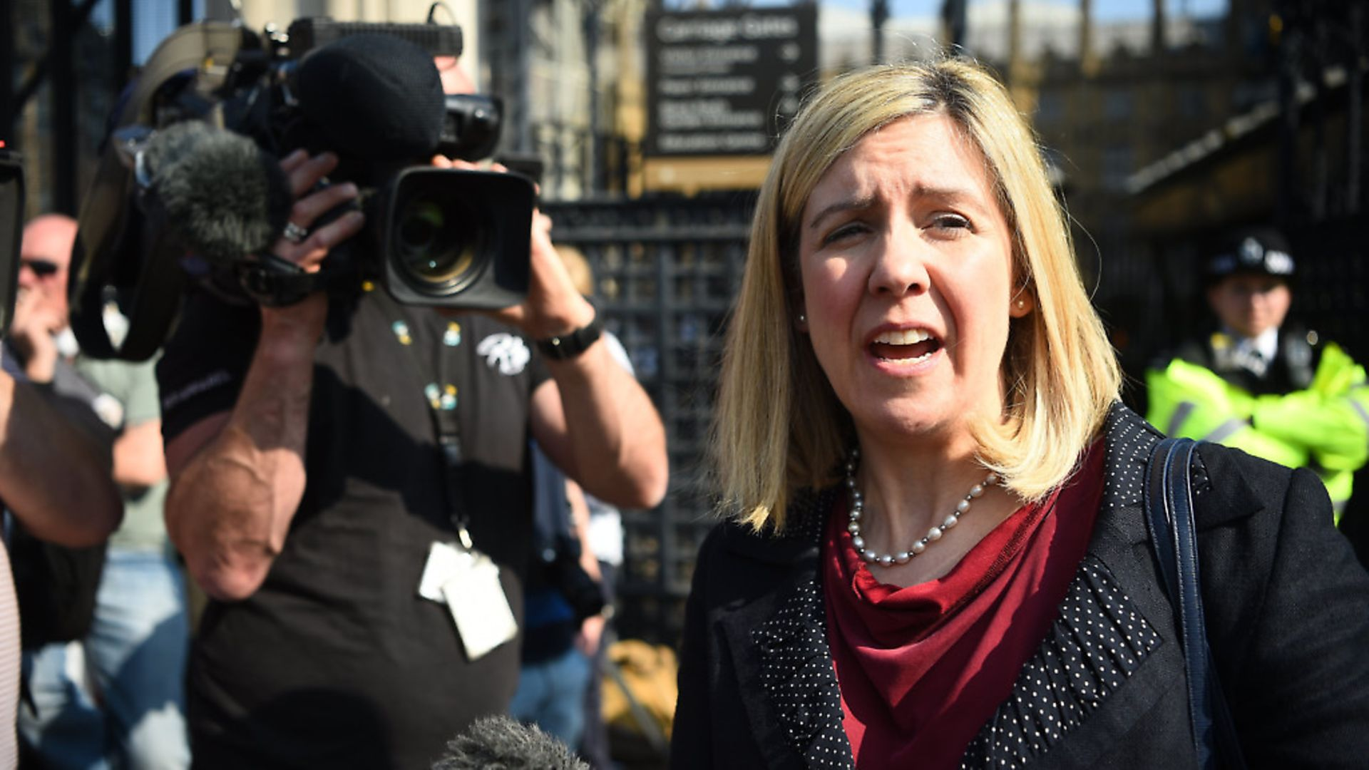 ERG deputy Andrea Jenkyns outside Westminster Palace; Kirsty O'Connor - Credit: PA