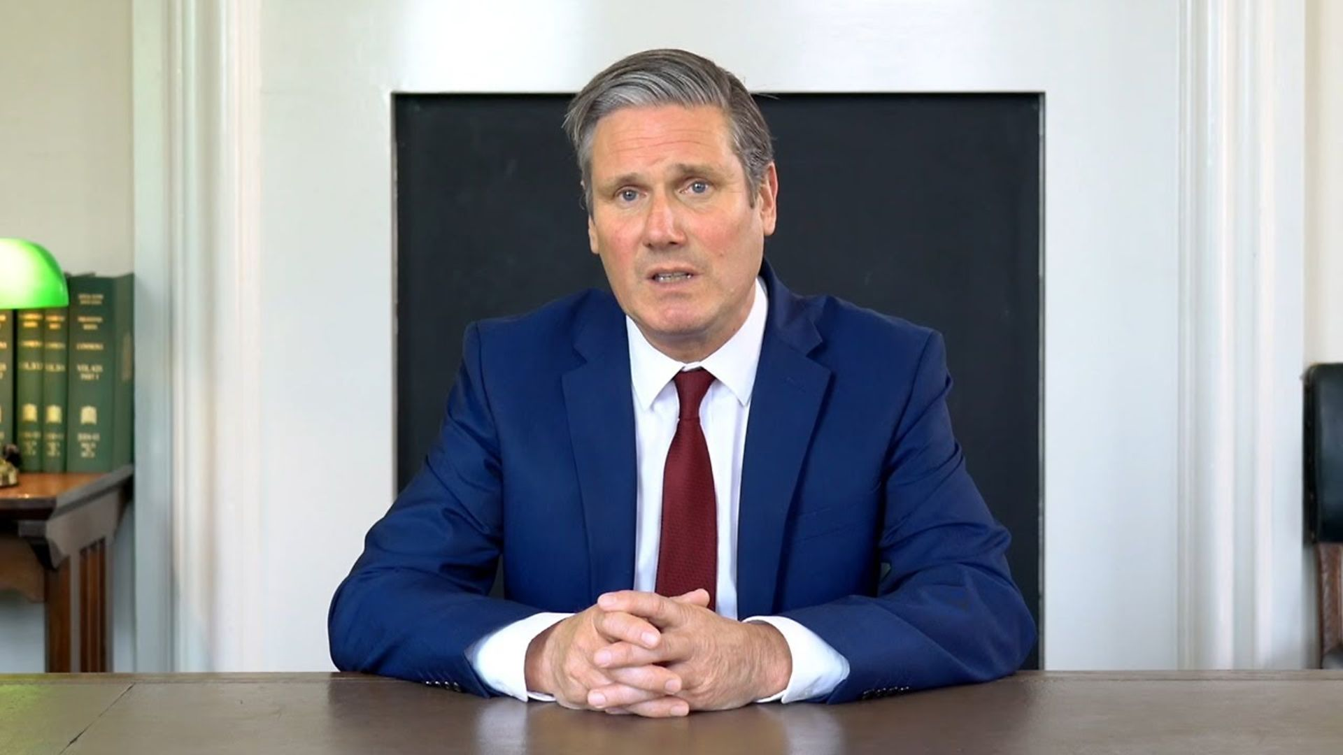 Keir Starmer during his last televised address. - Credit: BBC