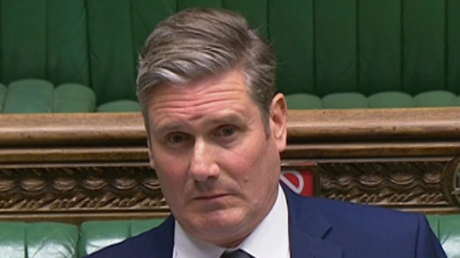 Labour leader Sir Keir Starmer appearing at prime minister's questions in the House of Commons - Credit: Parliament