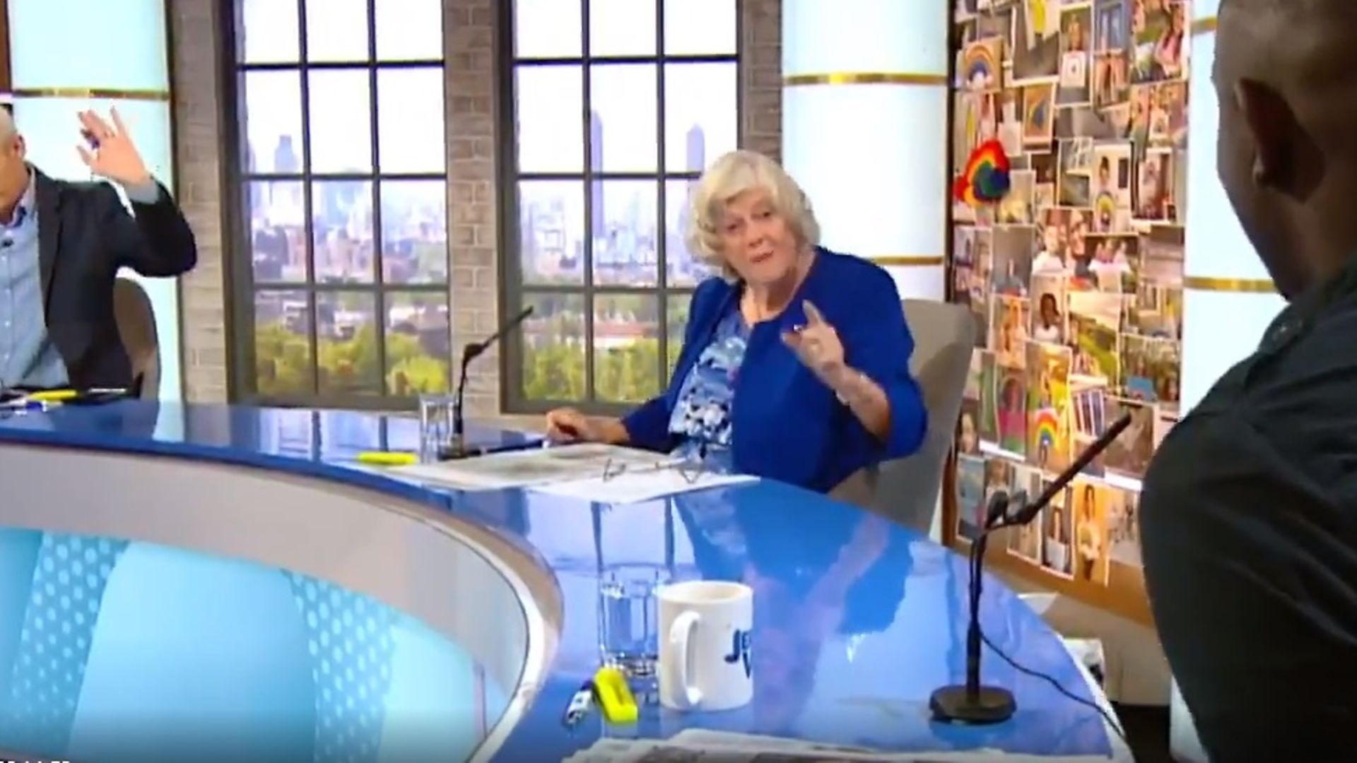 Ann Widdecombe on Jeremy Vine's Channel 5 show - Credit: Channel 5