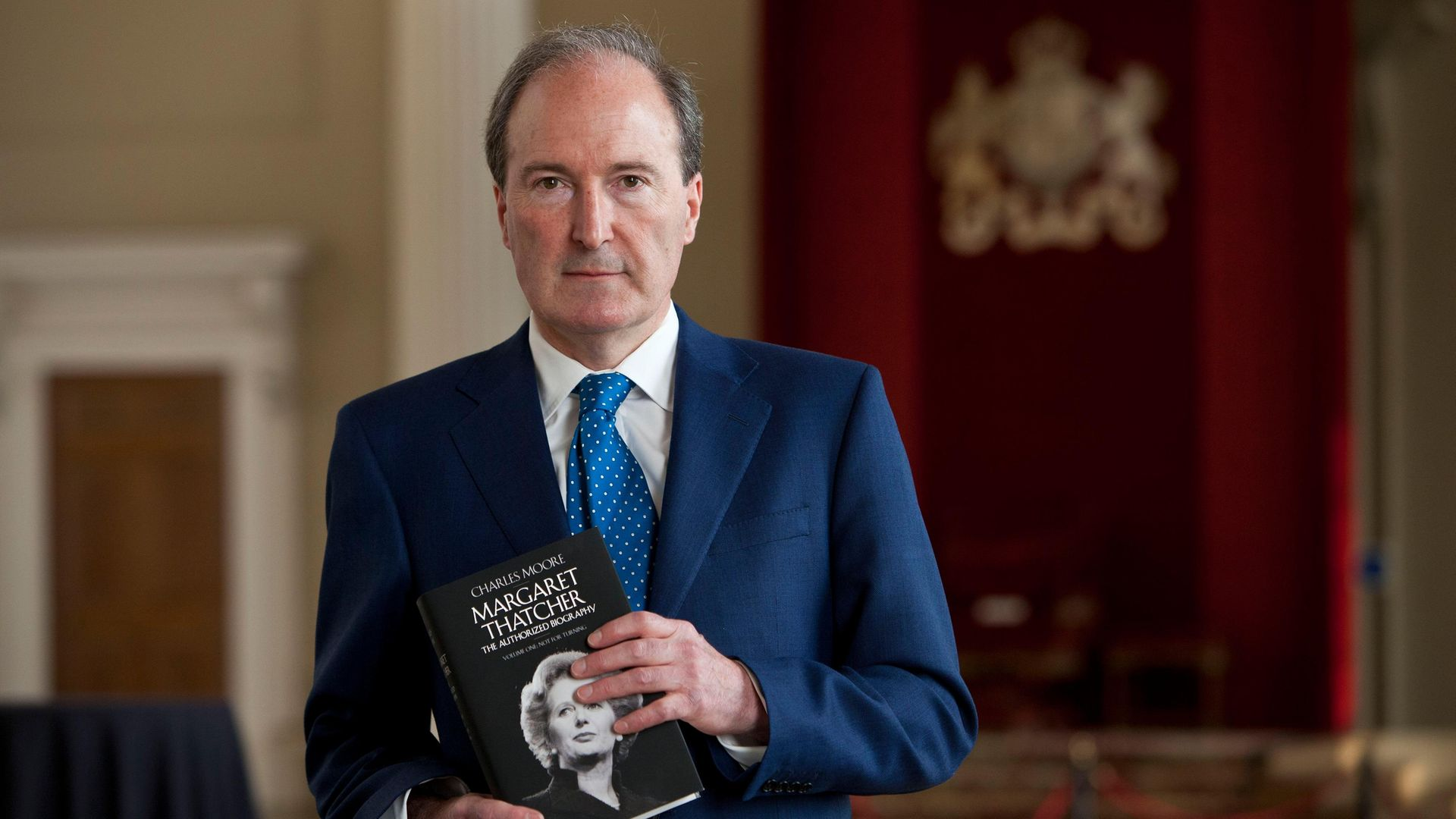 Charles Moore authored a book about Margaret Thatcher - Credit: David Levenson/Getty