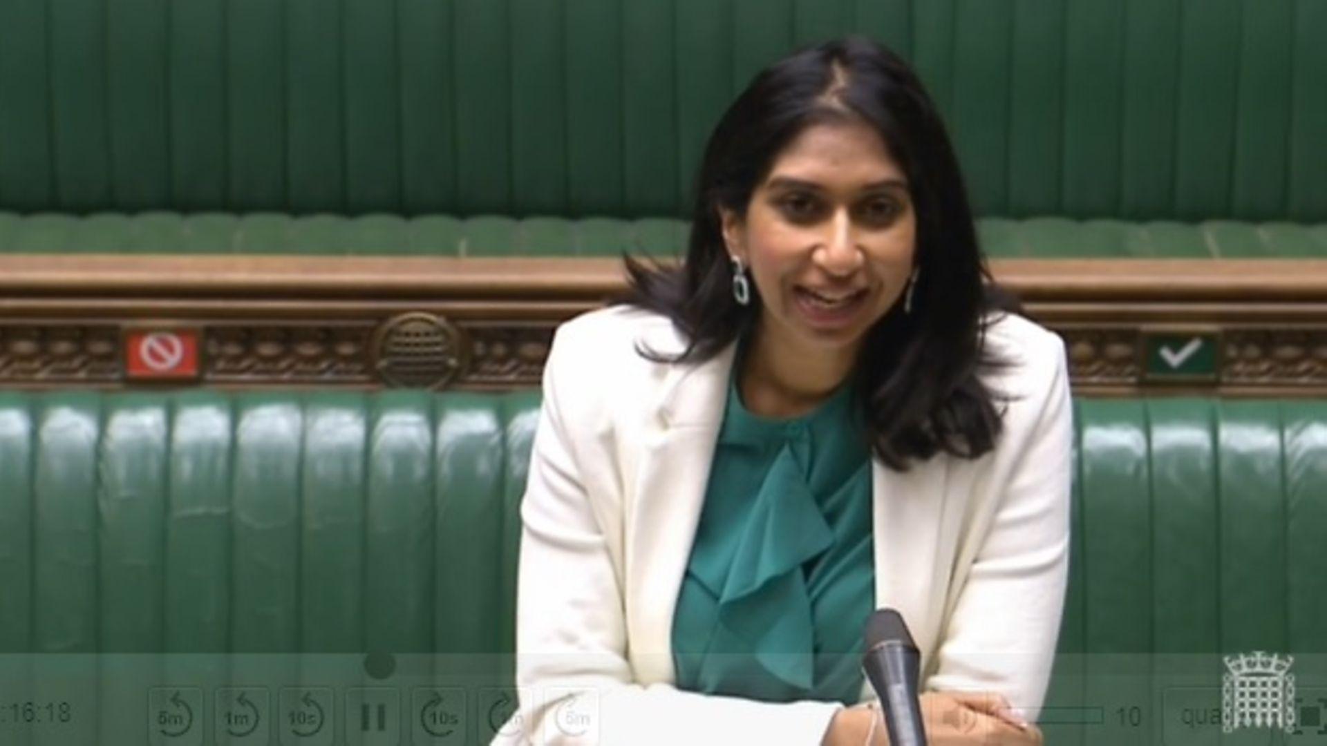 Suella Braverman - Credit: Parliament TV