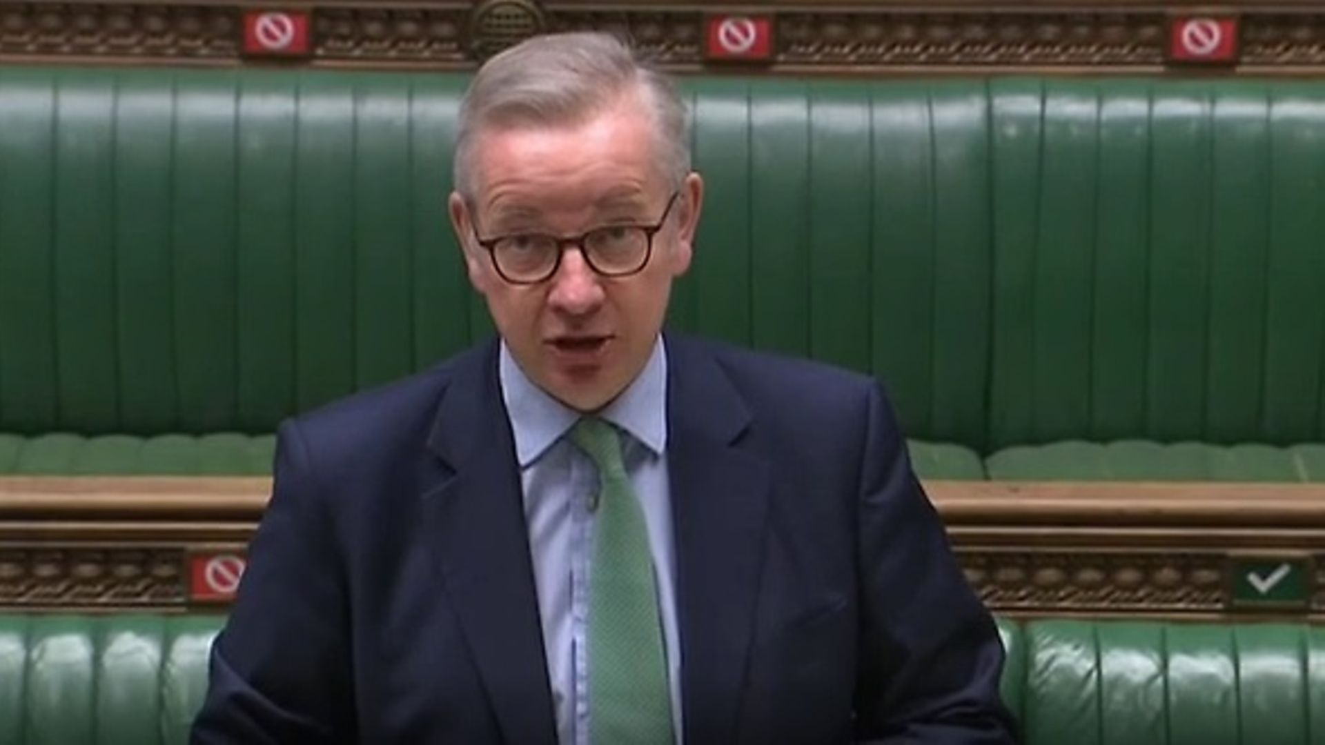 Michael Gove in the House of Commons - Credit: Parliament TV