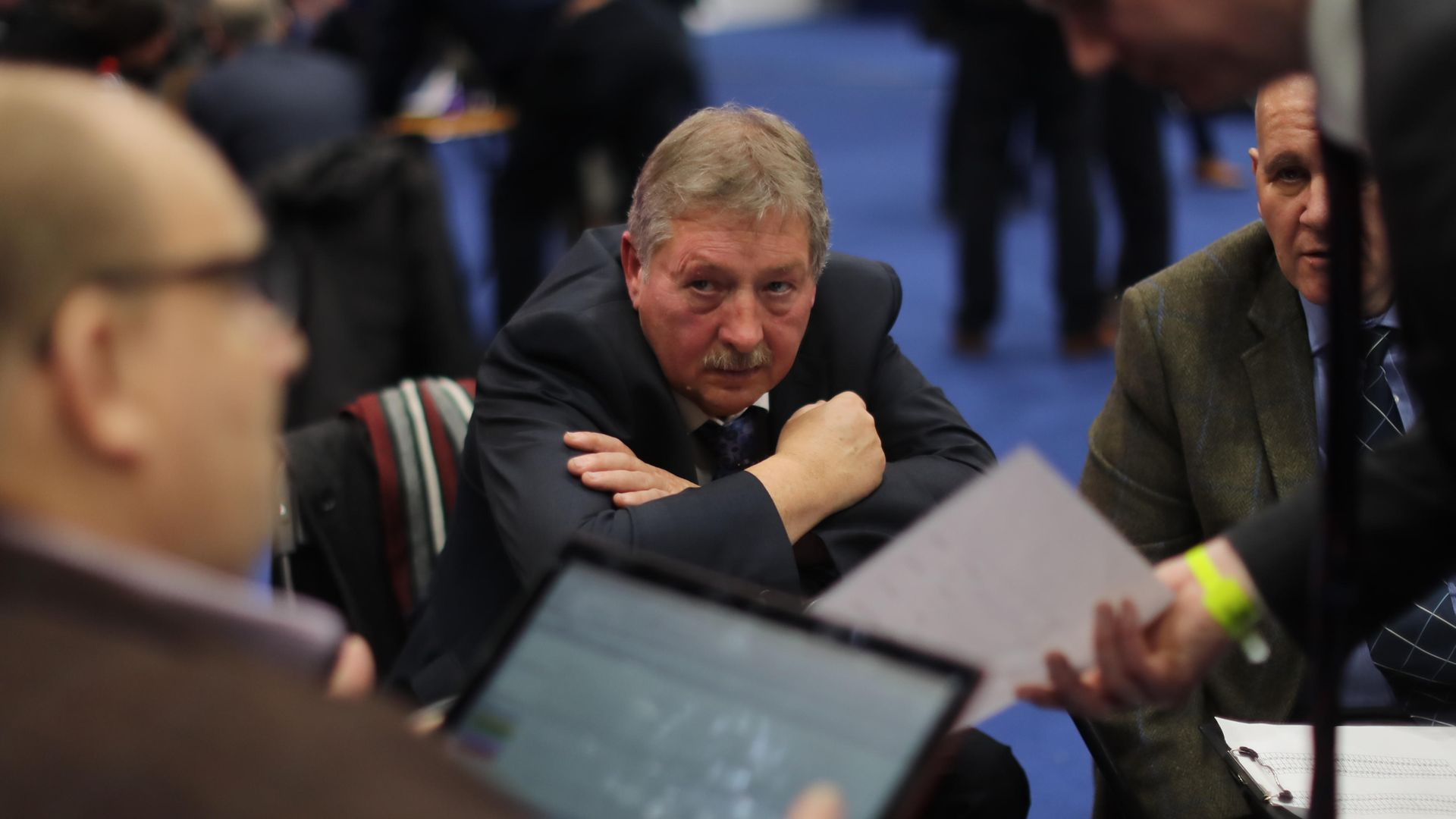 DUP Brexit spokesperson Sammy Wilson has complained the UK is 'like East Germany under the Stasi' after being spotted on public transport without a face mask - Credit: PA