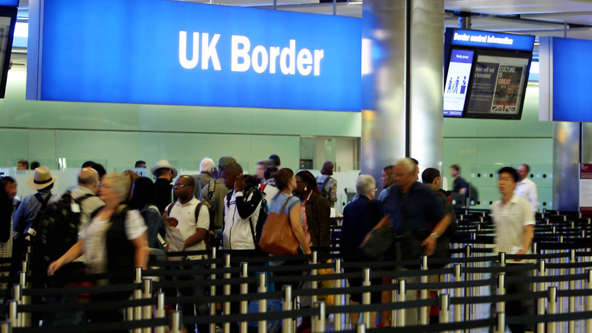 Border control at Heathrow Airport. Photograph: Steve Parsons/PA. - Credit: PA Archive/PA Images