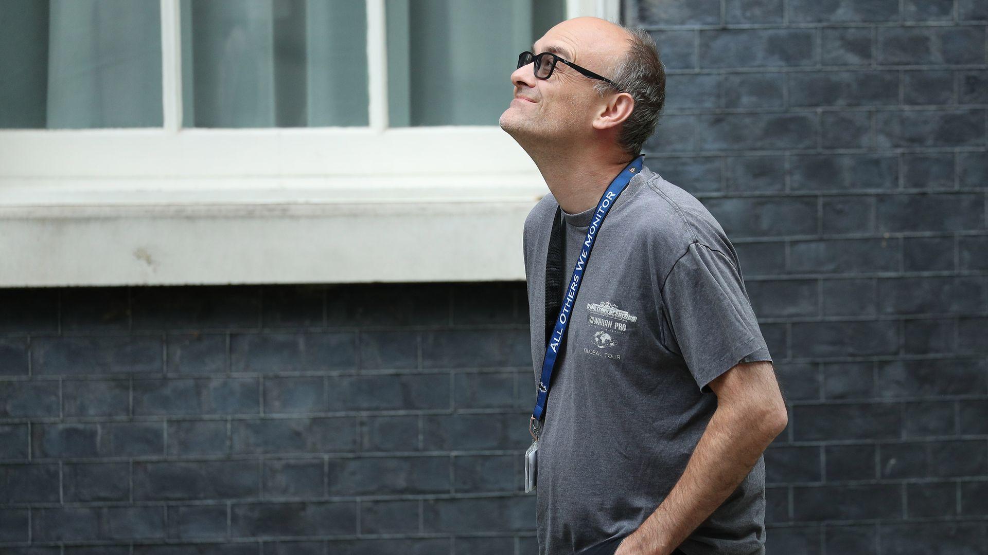 Senior aide to prime minister Boris Johnson, Dominic Cummings in Downing Street, London. - Credit: PA