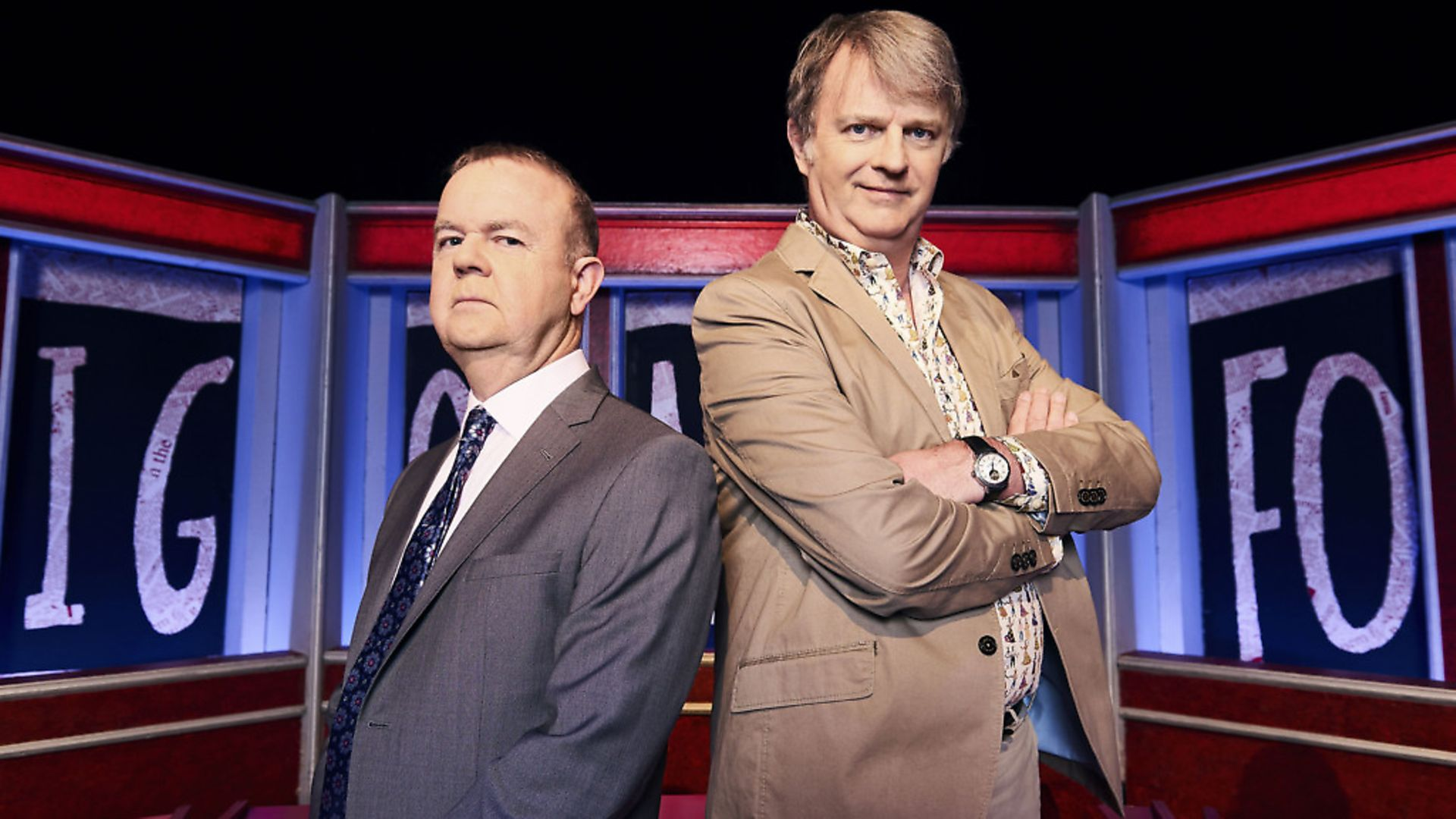 Have I Got News For You's Ian Hislop, left, and Paul Merton. Picture: BBC/Hat Trick/Ray Burmiston - Credit: BBC/Hat Trick/Ray Burmiston