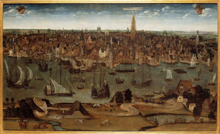 Antwerpia in Brabancia, a view of the city in 1530, from the collection of MAS. Artist anonymous. Photo: Fine Art Images/Heritage Images via Getty Images