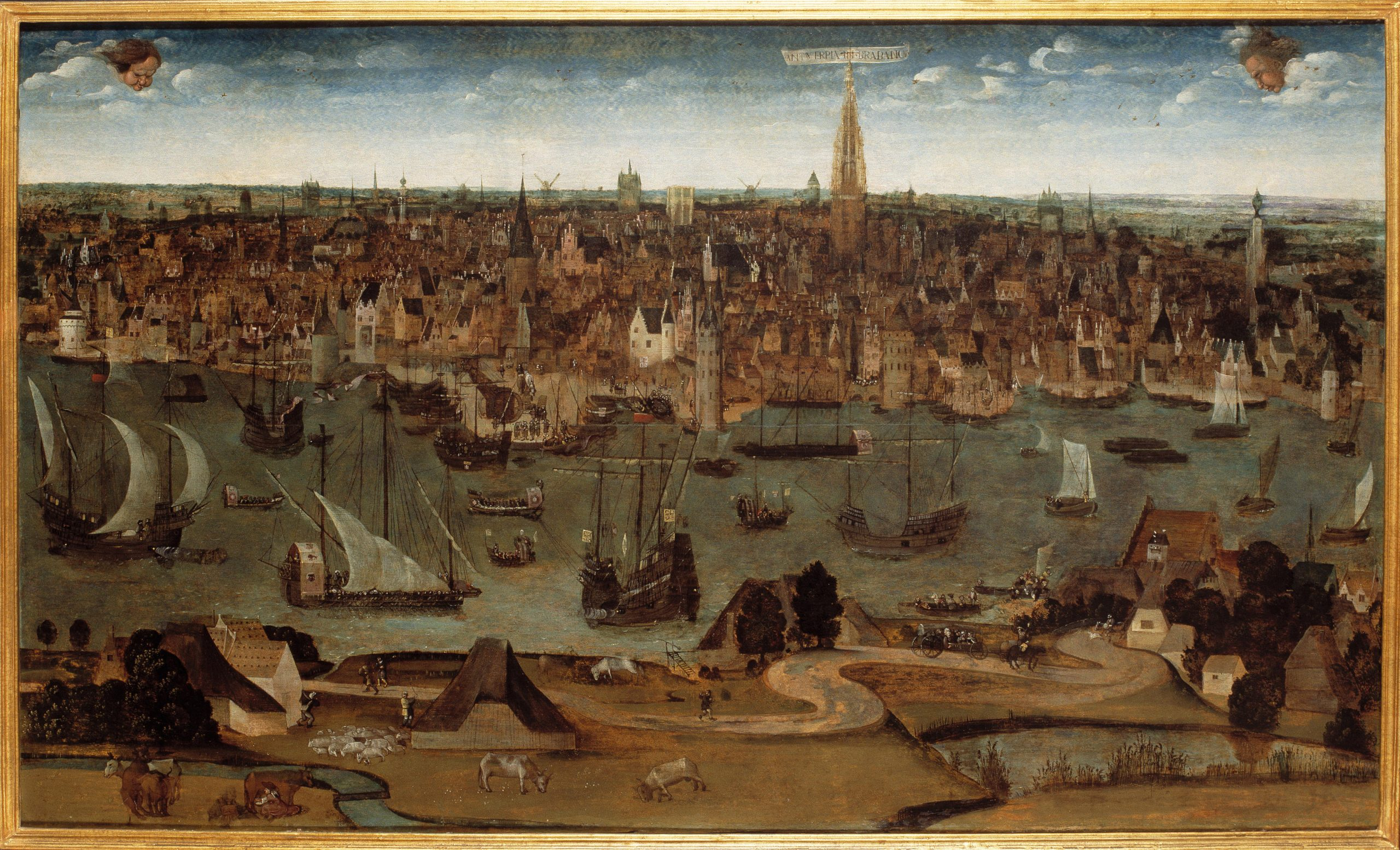 Antwerpia in Brabancia, a view of the city in 1530, from the collection of MAS. Artist anonymous.