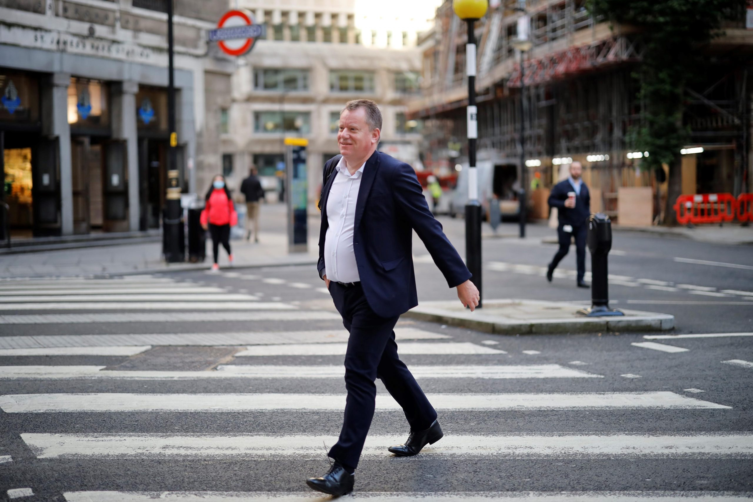 MAN IN THE MIDDLE: David Frost in central London at the height of negotiations on a post-Brexit trade deal with the EU, in October 2020.