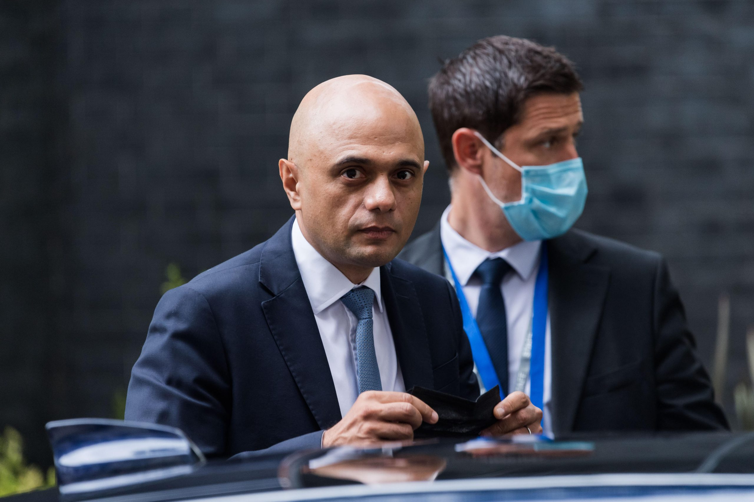 Health secretary Sajid Javid, who was forced to apologise for language used in a tweet.