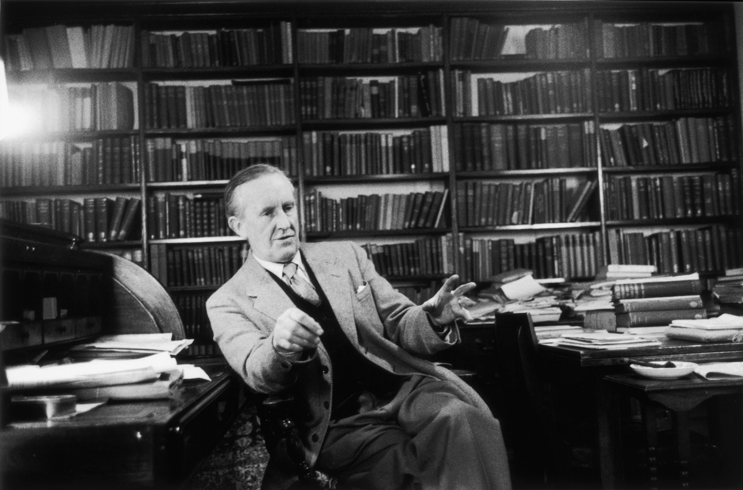 JRR Tolkien, the South African-born philologist and author of 'The Hobbit' and 'The Lord Of The Rings'. Photo by Haywood Magee/Getty Images