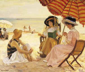 La Plage, from 1900, by artist Alfred-Victor Fournier.