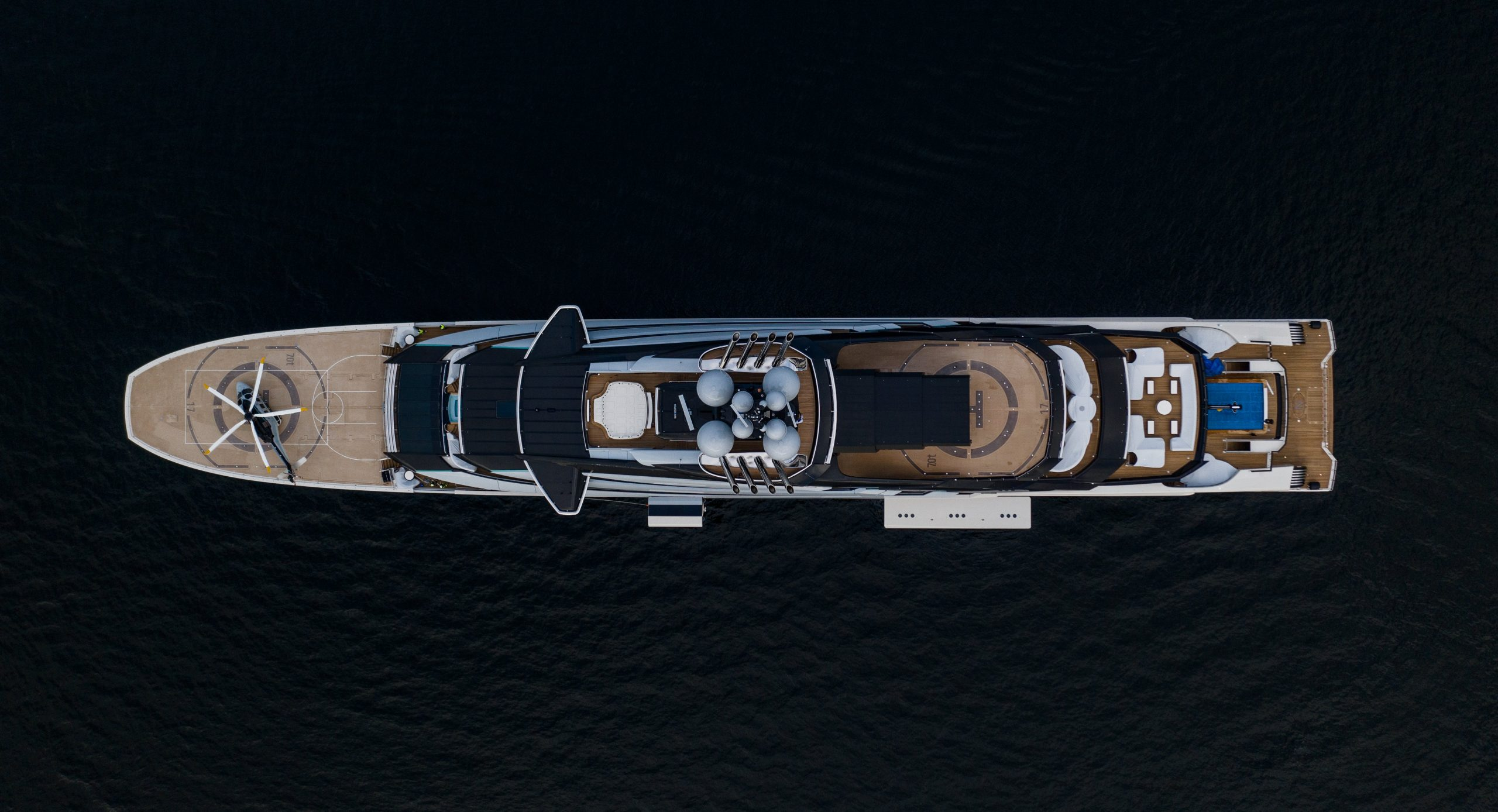 The £450m superyacht Nord, built by the Lurssen boatyard in Bremen, Germany, and owned by Alexei Mordashov