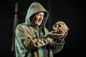 The great Ian McKellen contemplates mortality (and Yorick's skull) in his age-blind Hamlet .