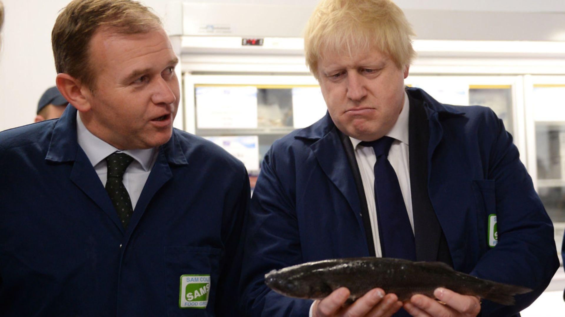Boris Johnson (right) with George Eustice. - Credit: PA