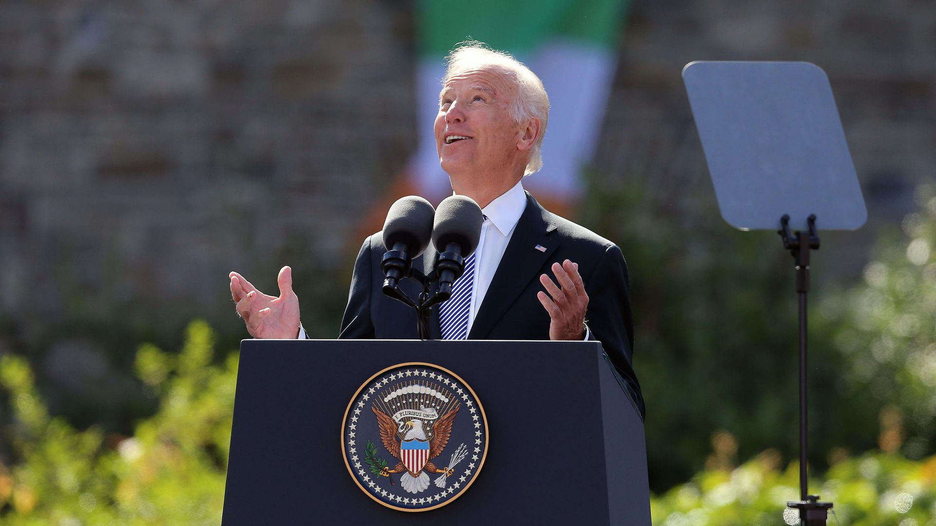 Joe Biden delivers a keynote speech - Credit: PA