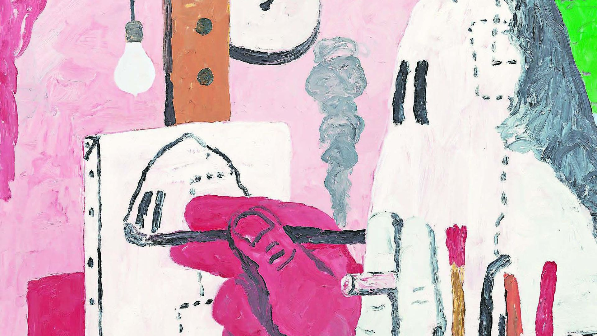 In The Studio Guston (1969) conflates the creative and the destructive, depicting the painter - himself - as a Klansman - Credit: Philip Guston